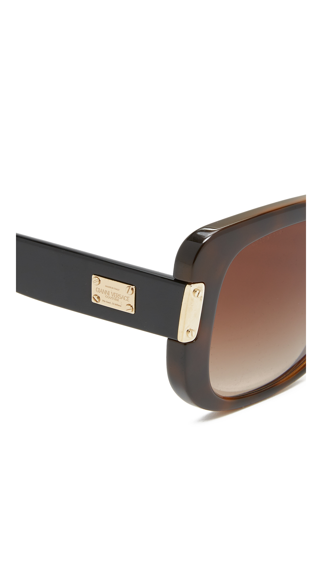 Square Frame Versace Glasses : Versace Square Sunglasses in Brown Lyst