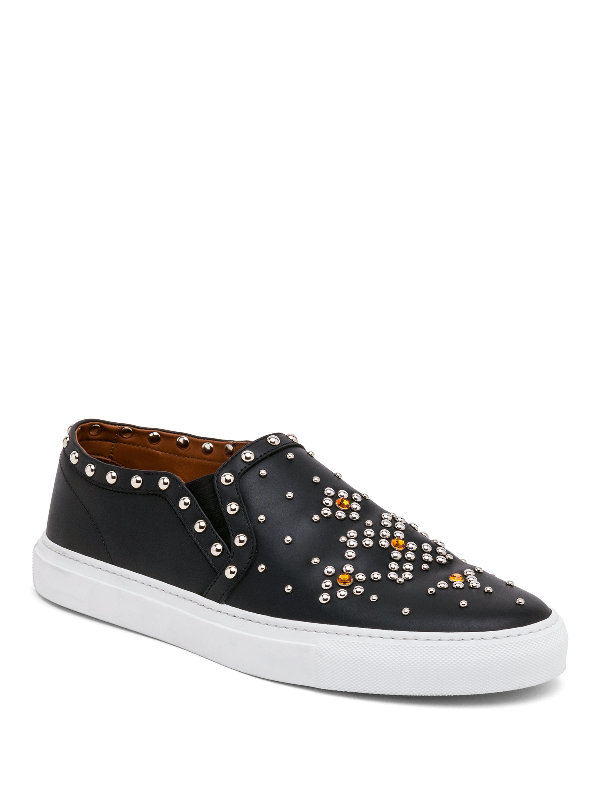 Lyst Givenchy Studded Leather Slip On Sneakers In Black