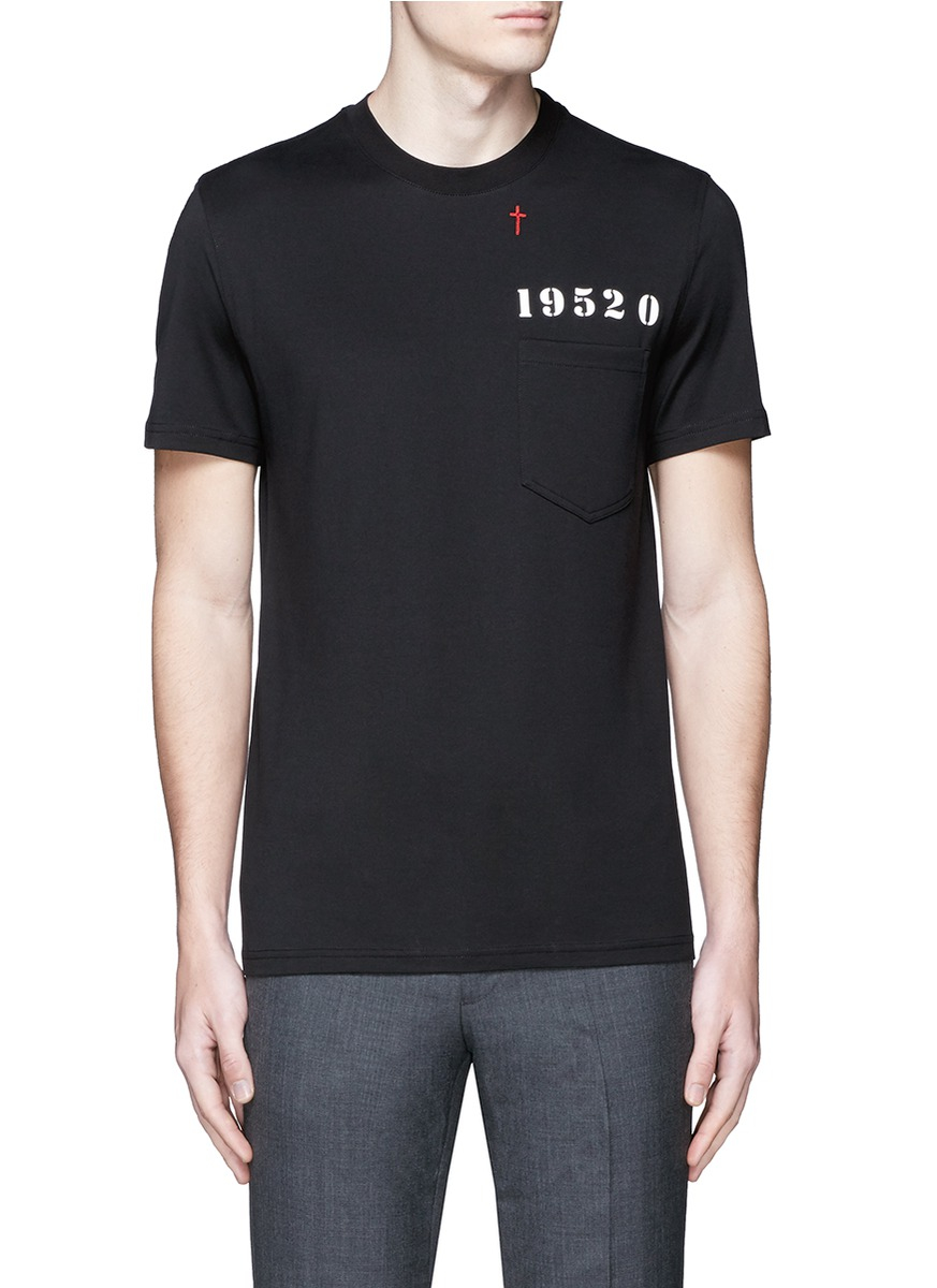 Lyst Givenchy Signature Print Chest Pocket T Shirt In