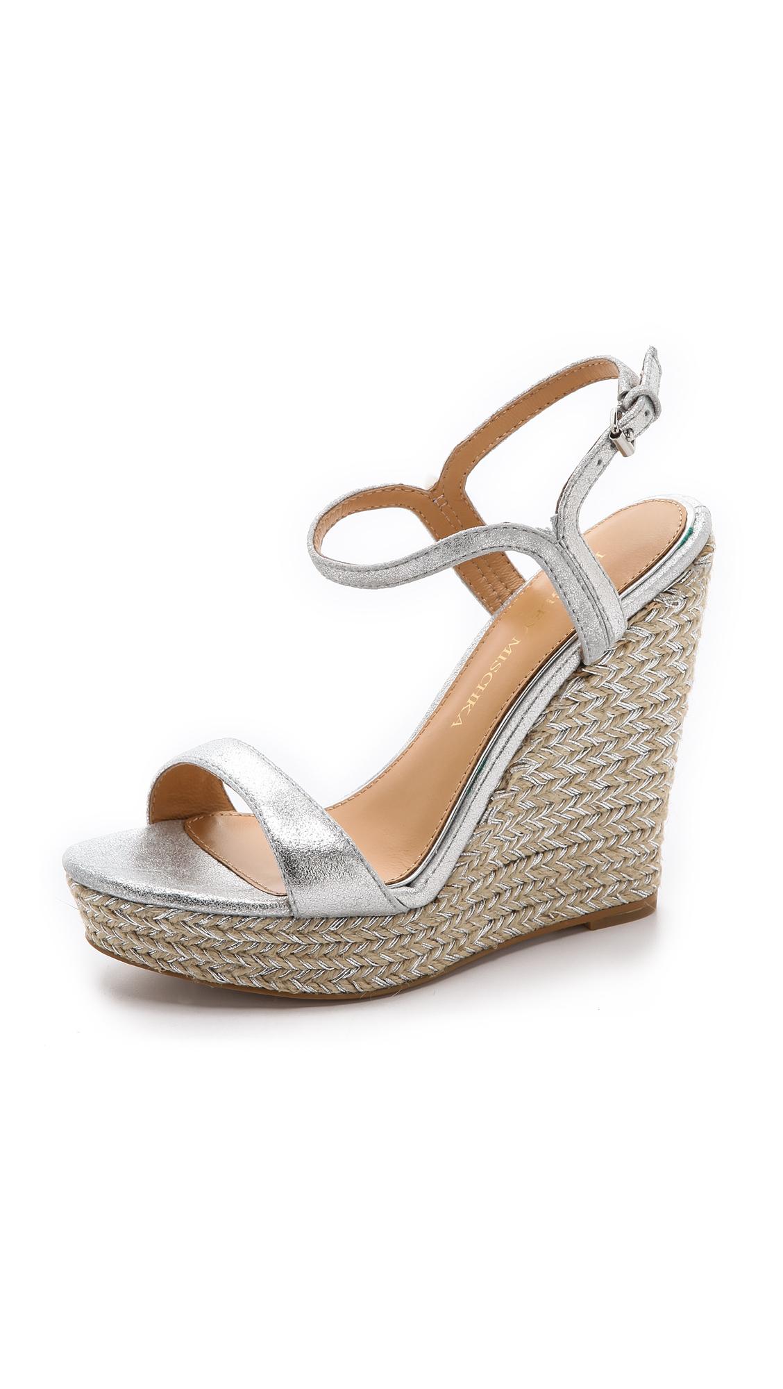 Lyst - Badgley Mischka Kleo Espadrille Wedge Sandals in ...