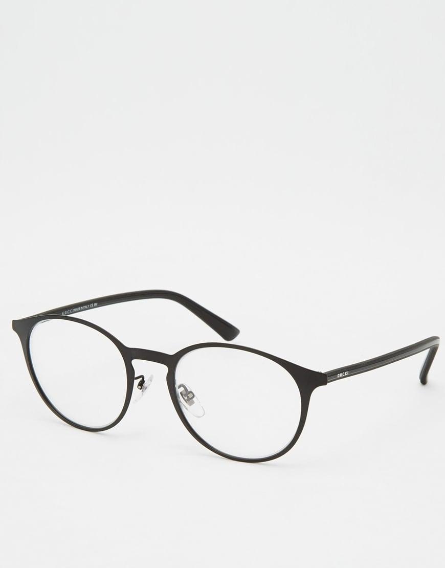 a2a44bc6ebf93 Gucci Round Glasses in Black for Men - Lyst