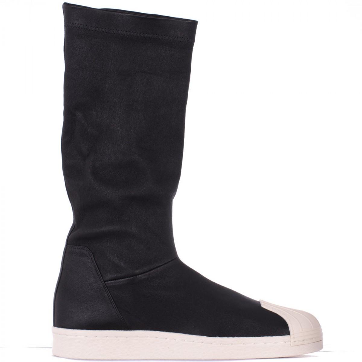 rick owens adidas superstar goatskin boots in black lyst. Black Bedroom Furniture Sets. Home Design Ideas