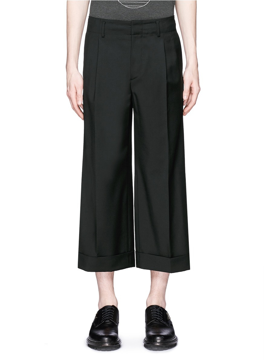 Lyst Wooyoungmi Roll Cuff Cropped Wide Leg Pants In