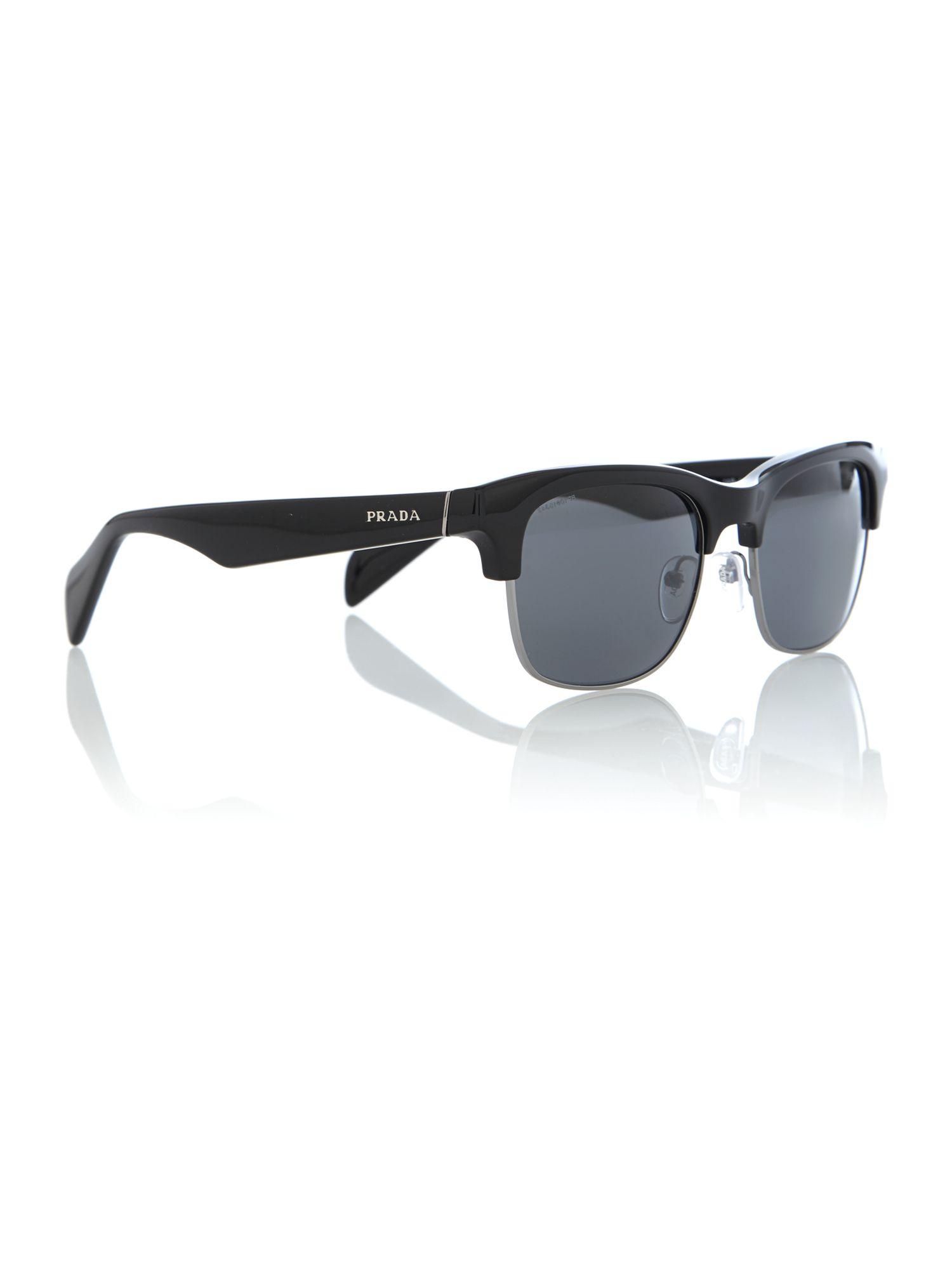 prada mens 0pr 11ps sunglasses in black for lyst