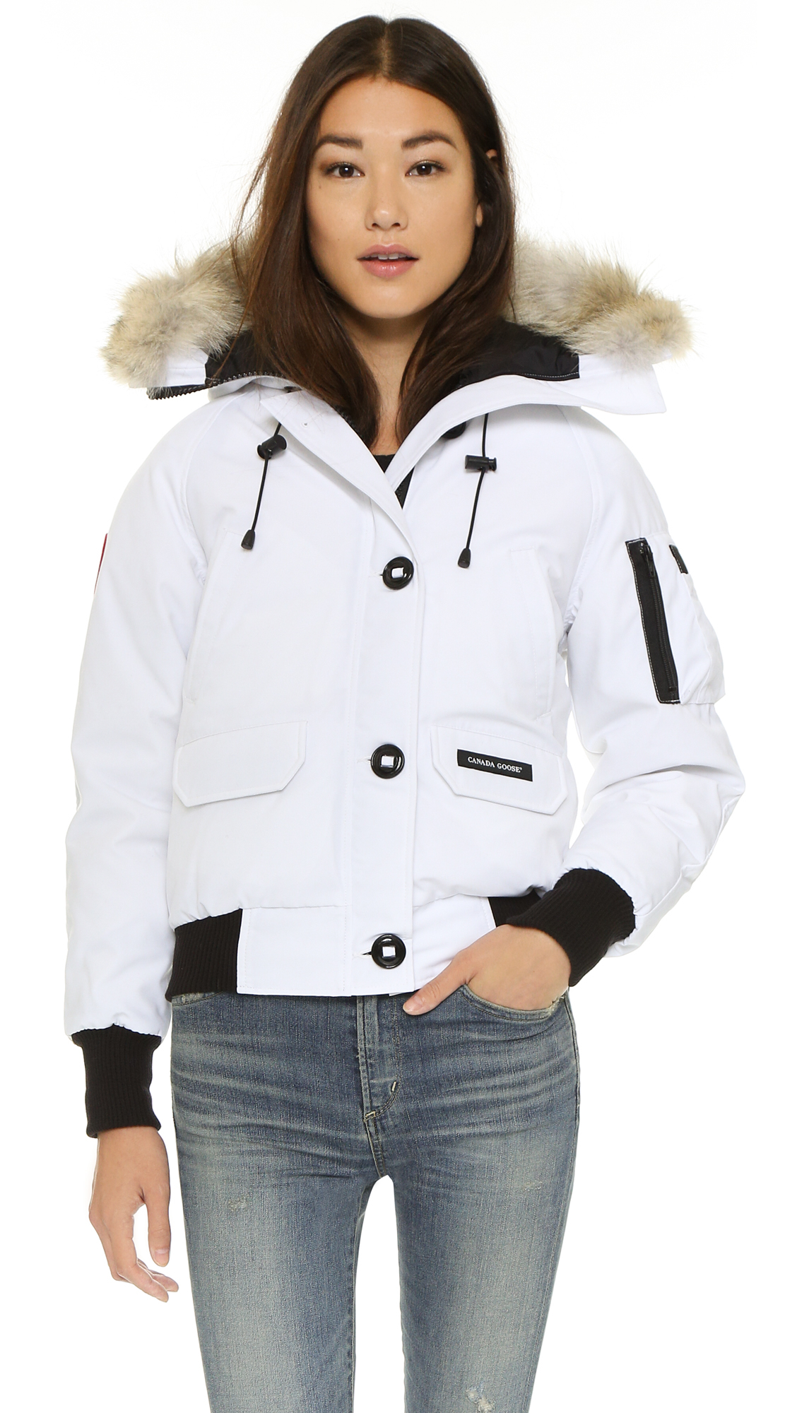 Canada Goose Chilliwack Bomber Jacket In White Lyst