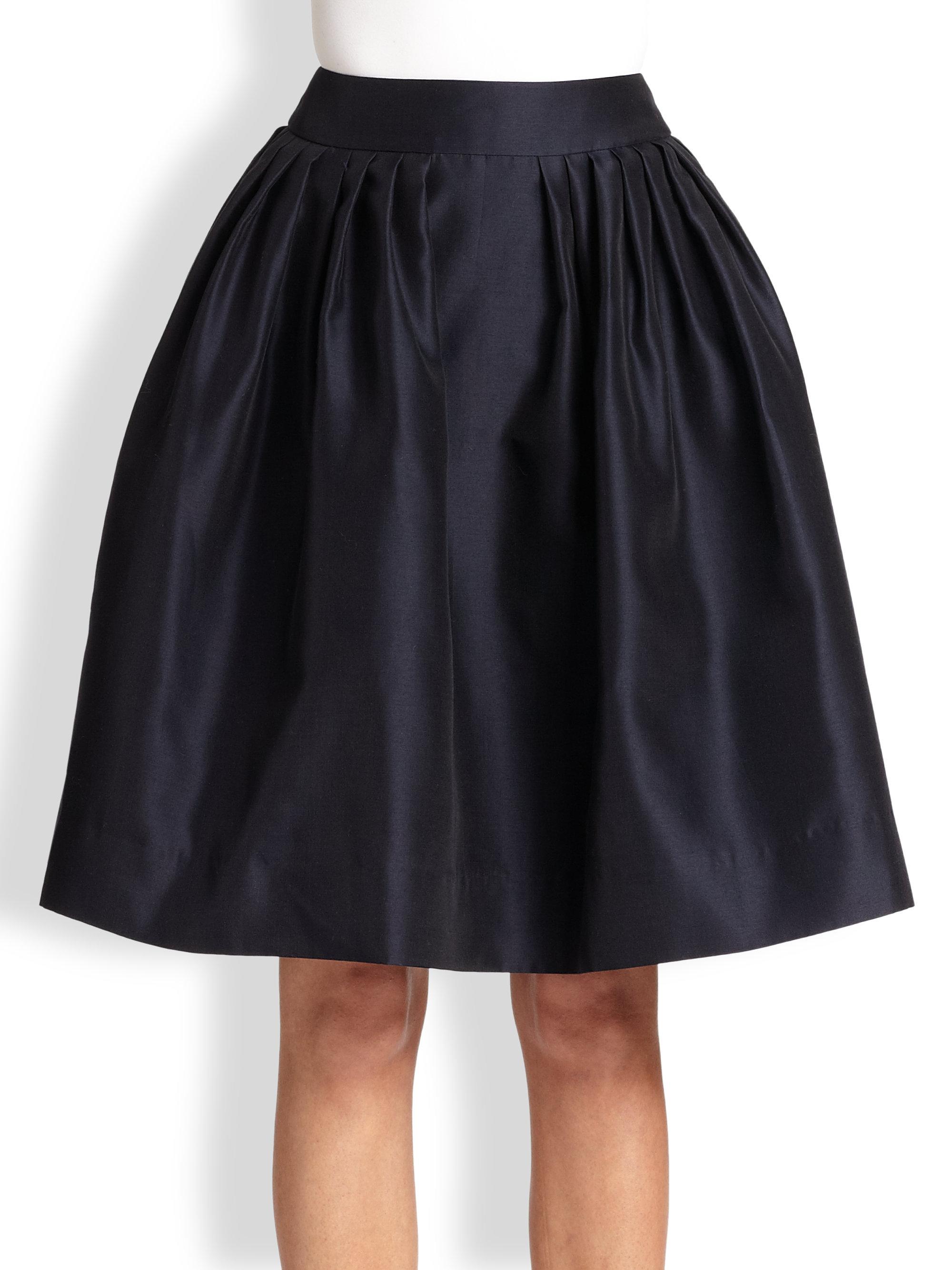 Lyst Martin Grant Pleated Bell Skirt In Blue