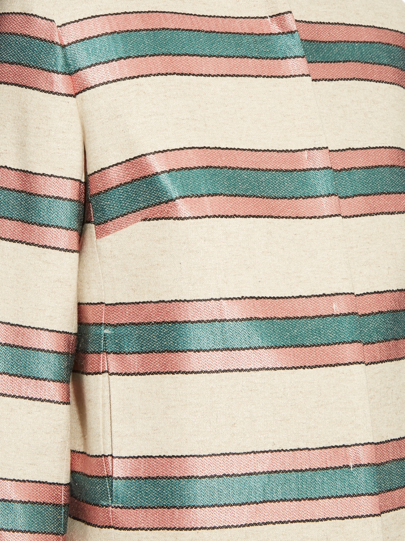 Lyst Weekend By Maxmara Burano Striped Crepe Jacket In Red