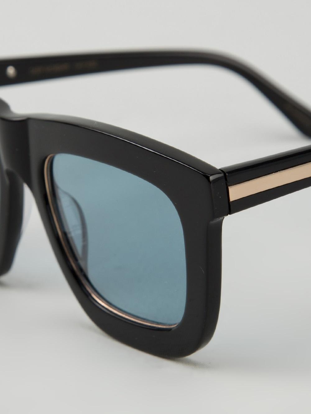 8689776cb107 Lyst - Karen Walker  Deep Worship  Sunglasses in Black