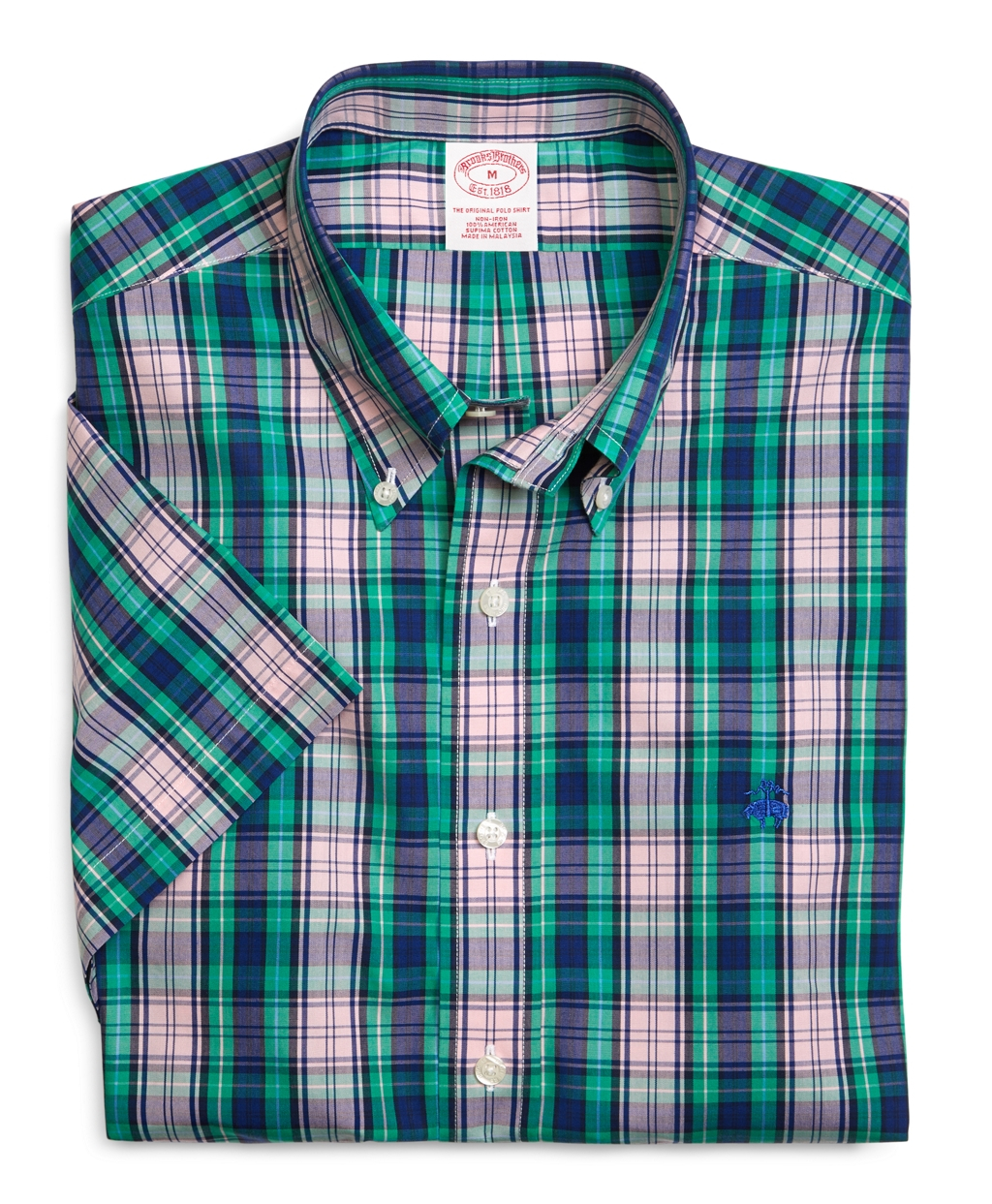 Brooks brothers supima cotton non iron regular fit large for Brooks brothers non iron shirts review