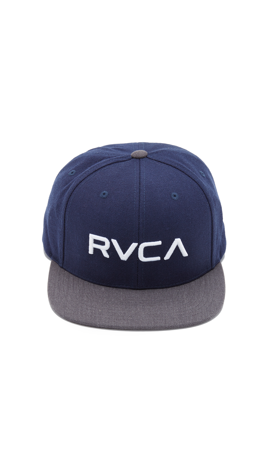 10caea3c511 cheap va snapback ii hat heather blue 58470 330be  clearance lyst rvca  twill snapback iii in blue for men 8be20 137c4