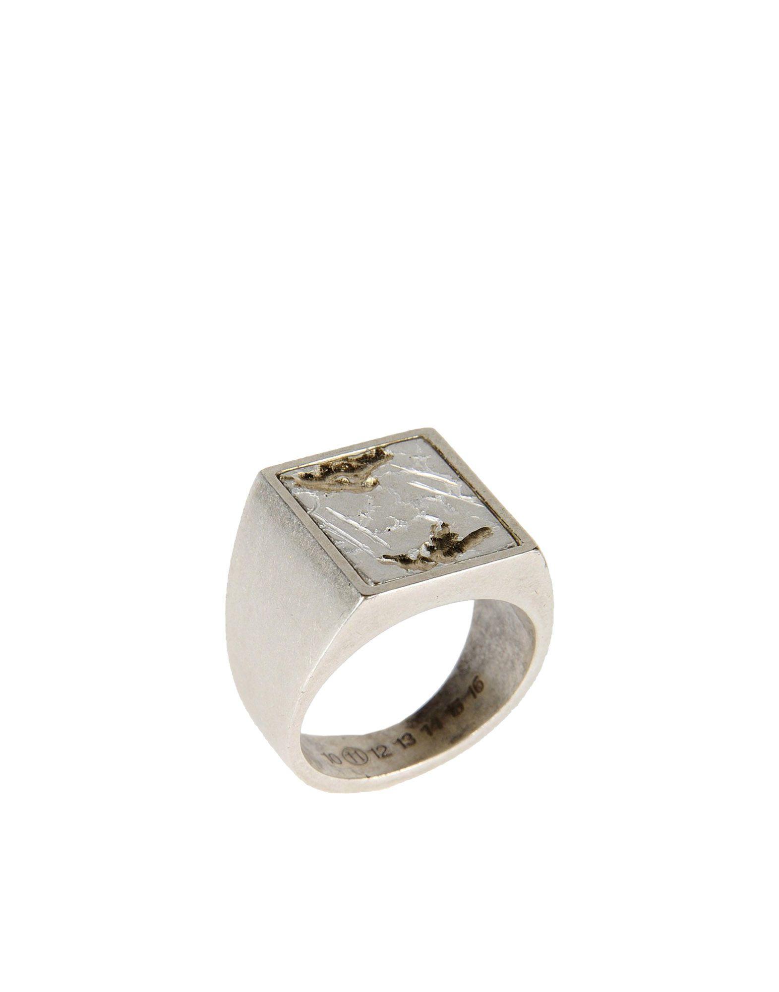 maison margiela ring in metallic for men lyst. Black Bedroom Furniture Sets. Home Design Ideas