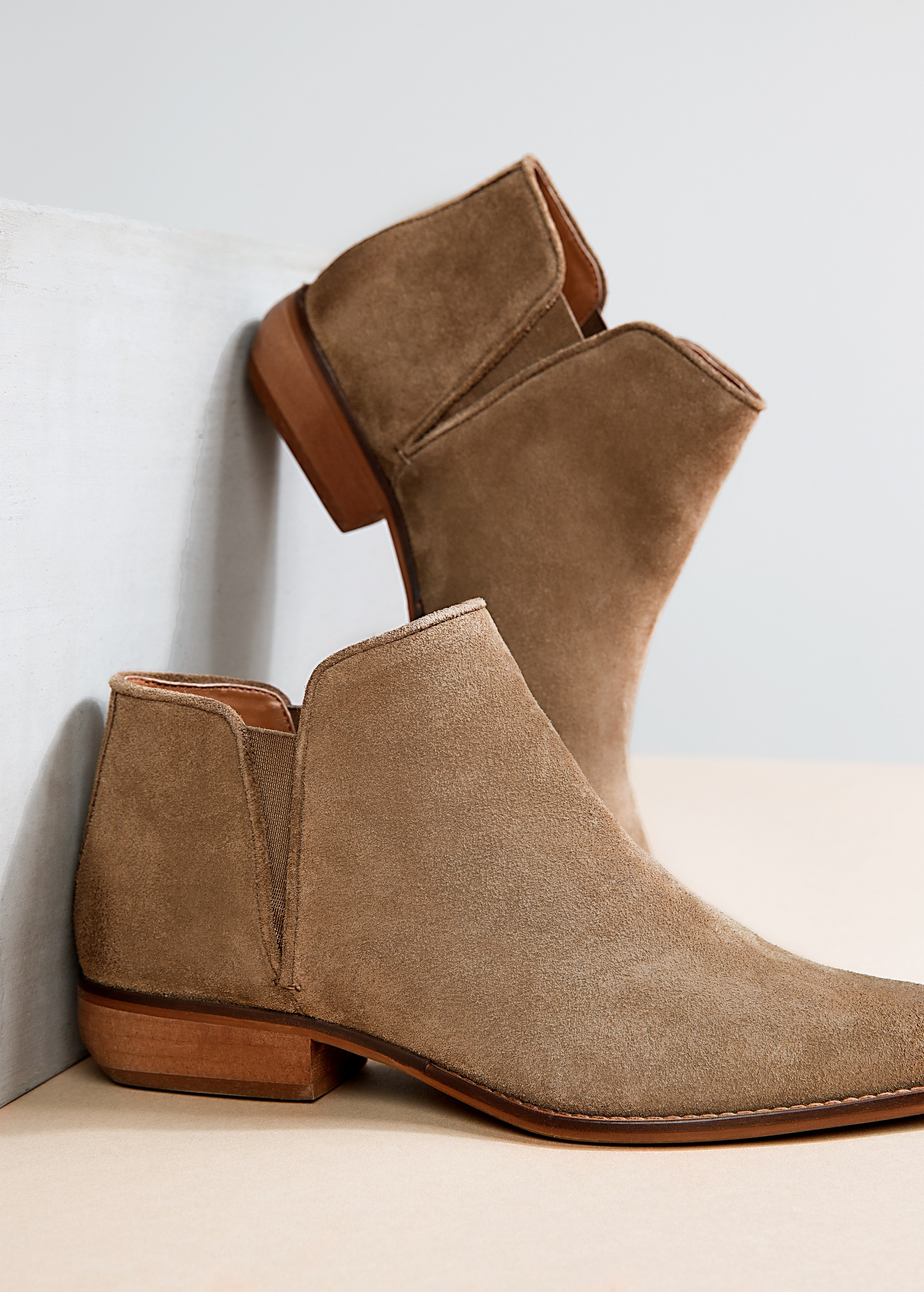 Short Suede Ankle Boots