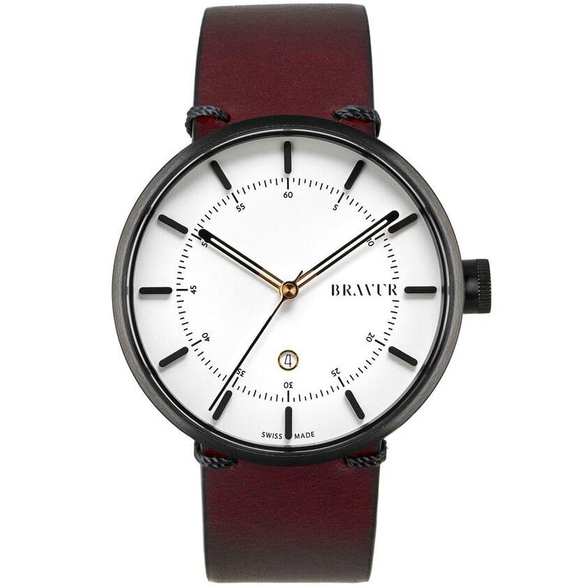bravur bw002 black white dial watch in red for men lyst. Black Bedroom Furniture Sets. Home Design Ideas