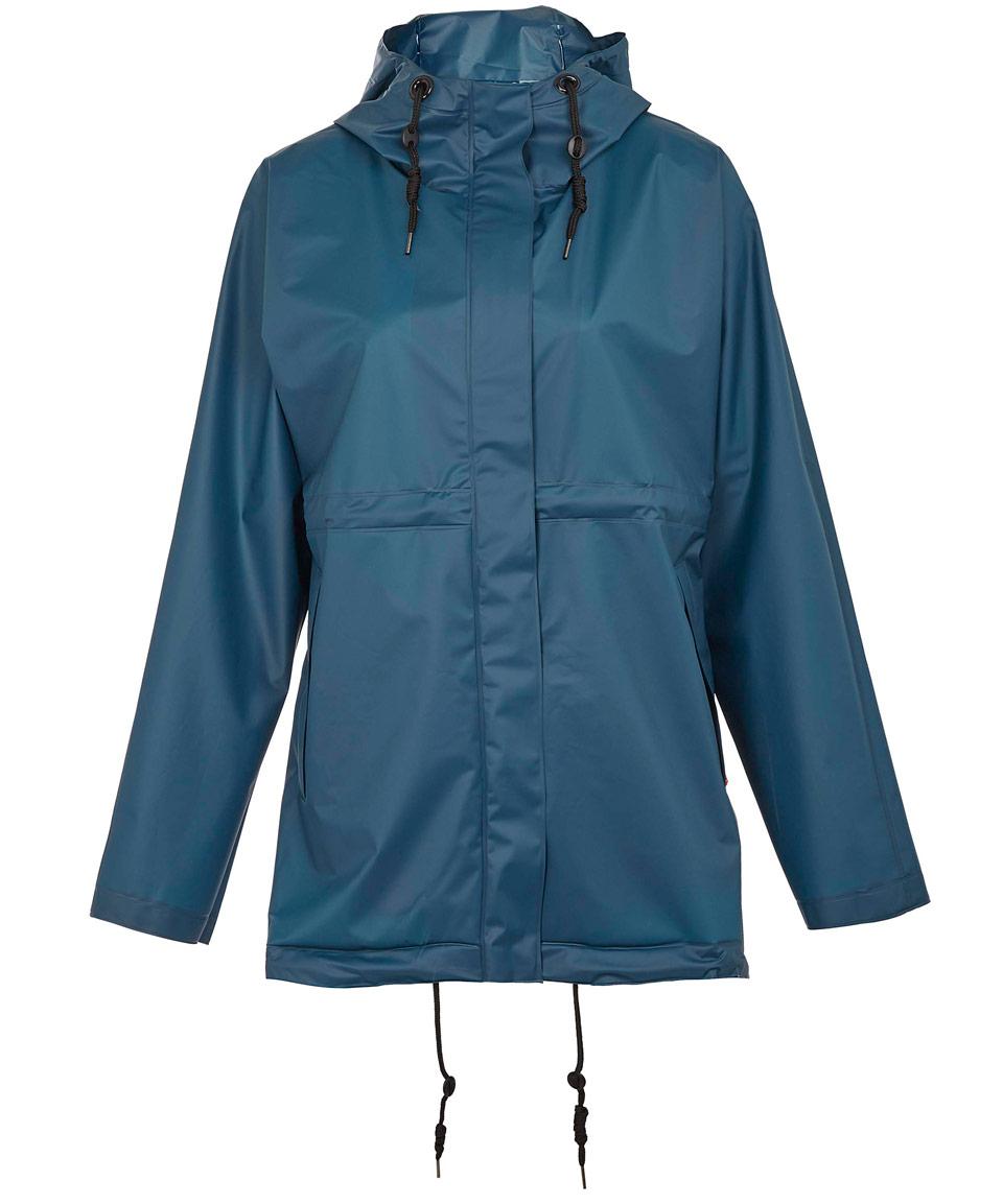 Lyst Hunter Blue Clear Hooded Vinyl Smock Jacket In Blue