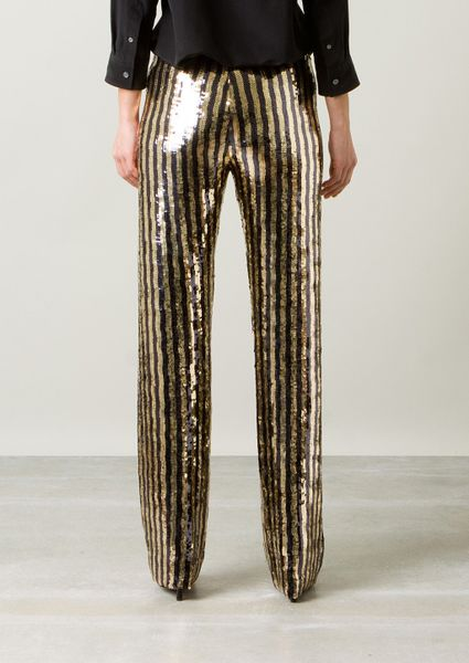 Marc Jacobs Metallic Gold And Black Sequins Pants In Gold Lyst