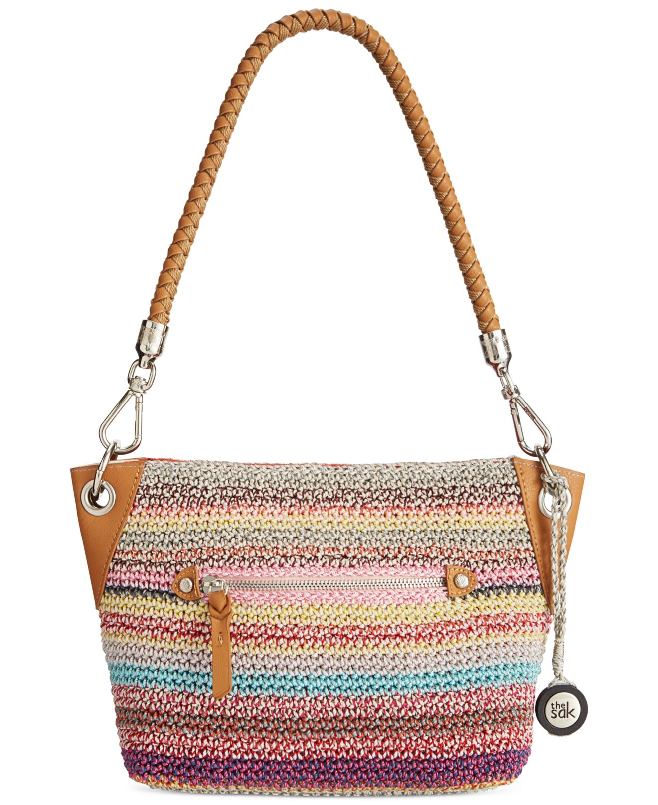 The Sak Bags Crochet : The Sak Portola Crochet Demi Bag in Multicolor (Festi stripe) Lyst