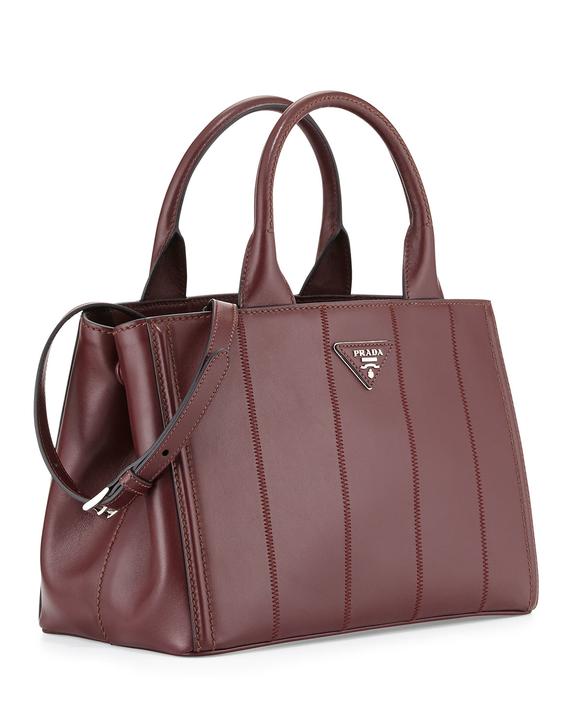 how much does a prada bag cost - Prada Soft Leather Medium Garden Tote Bag in Red (BURGUNDY) | Lyst