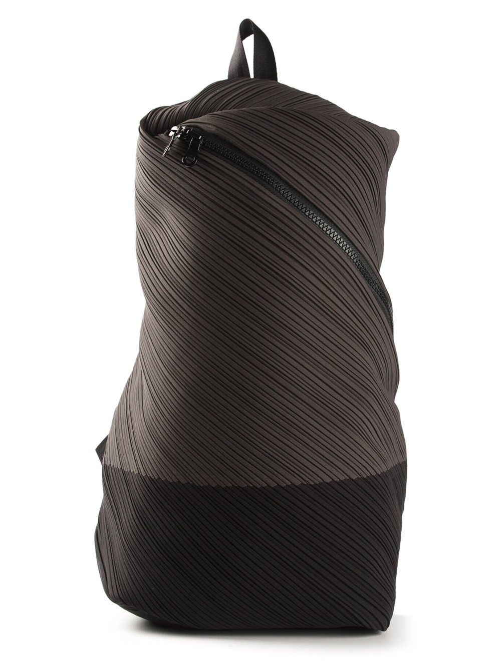 Lyst - Pleats Please Issey Miyake Pleated Backpack in Gray c68c7131bf52f