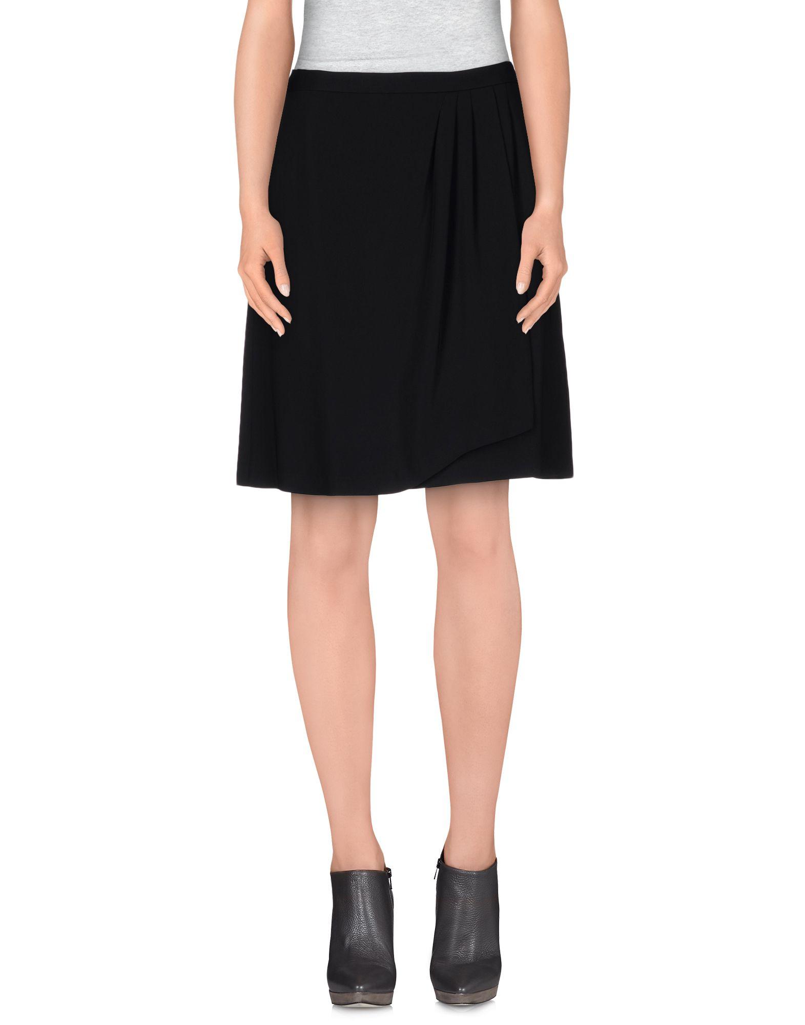 mauro grifoni knee length skirt in black lyst