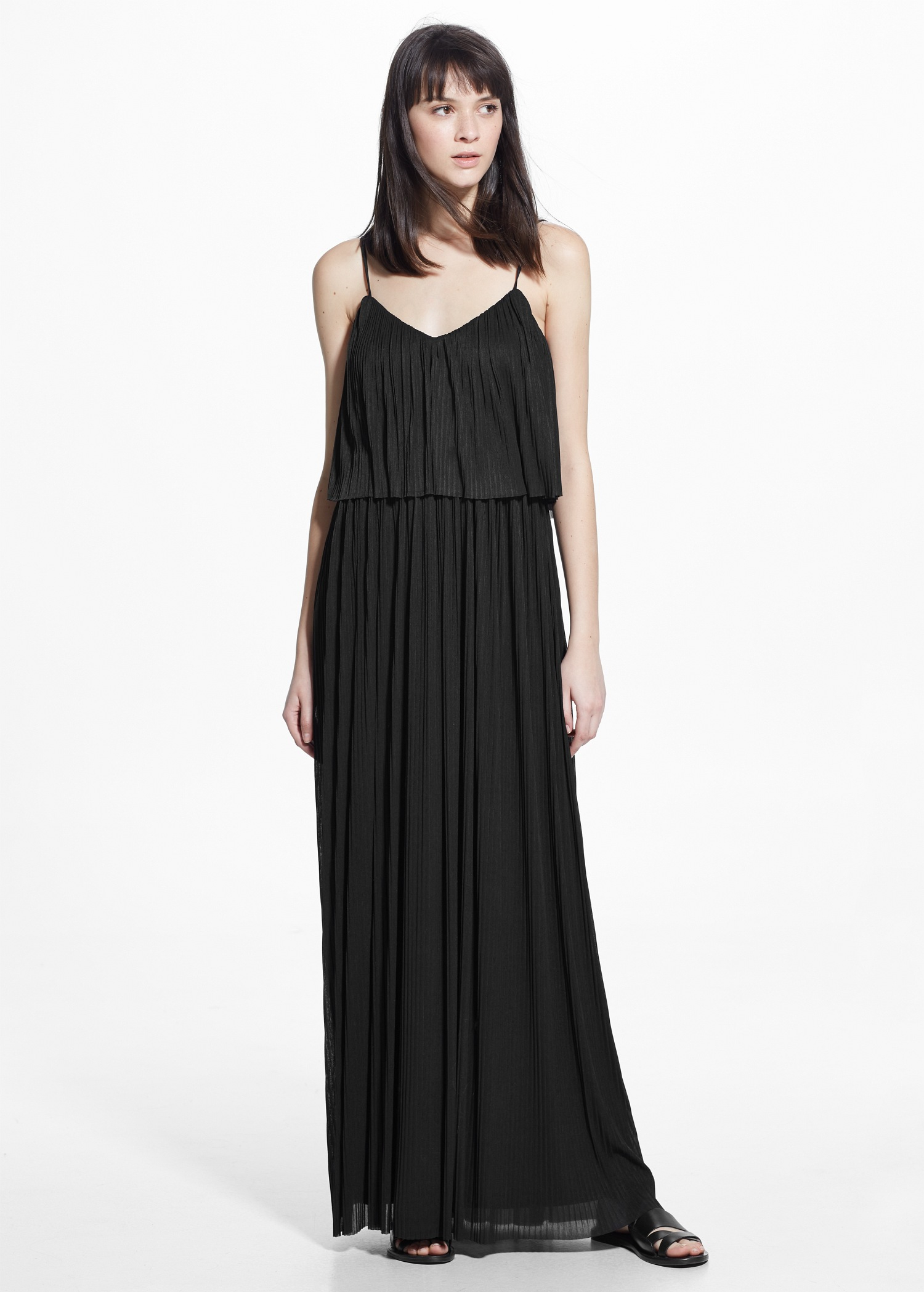 3972a1d811 Long Pleated Dress - Dress Foto and Picture