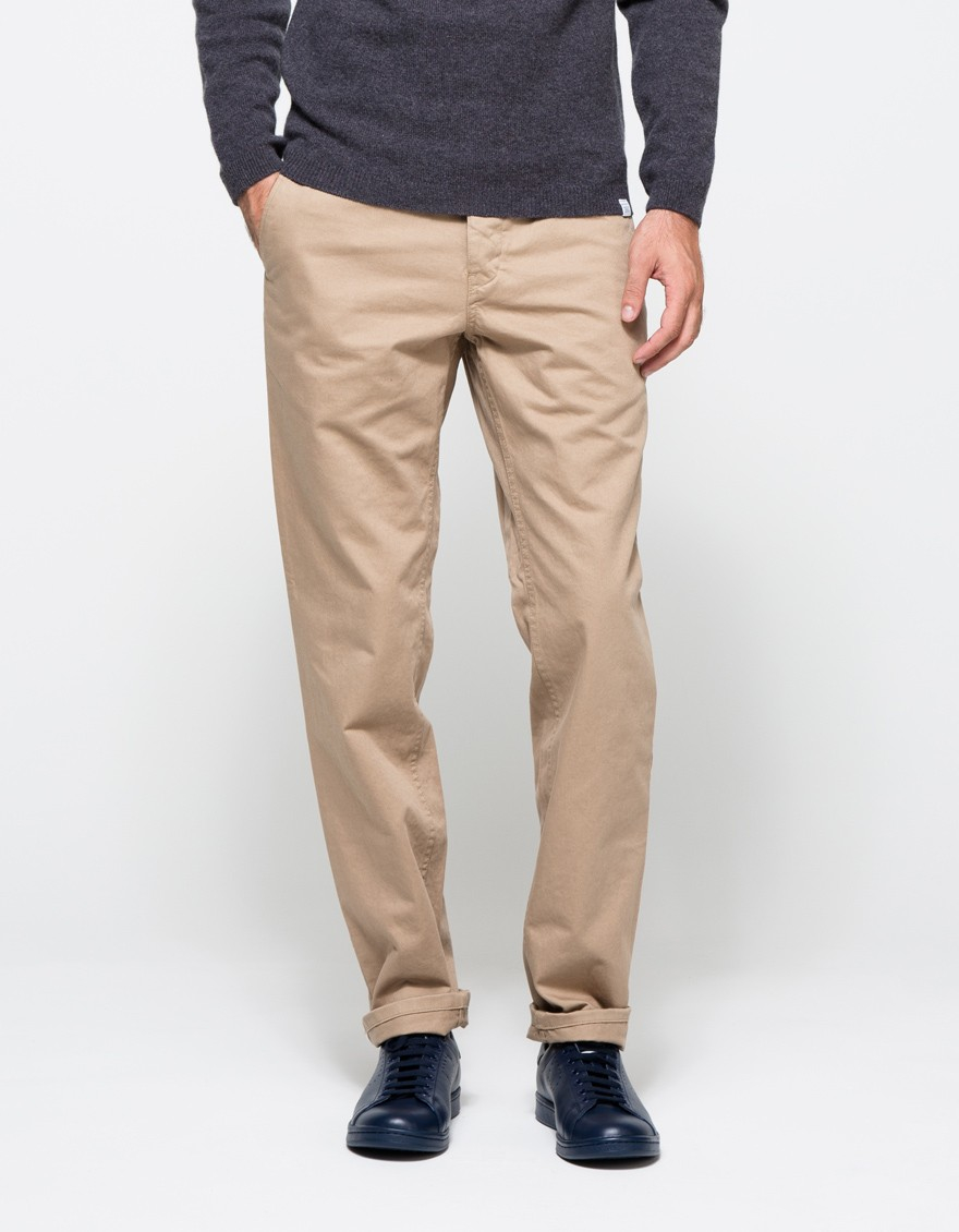 Norse projects Aros Heavy Chino In Khaki in Natural for Men | Lyst