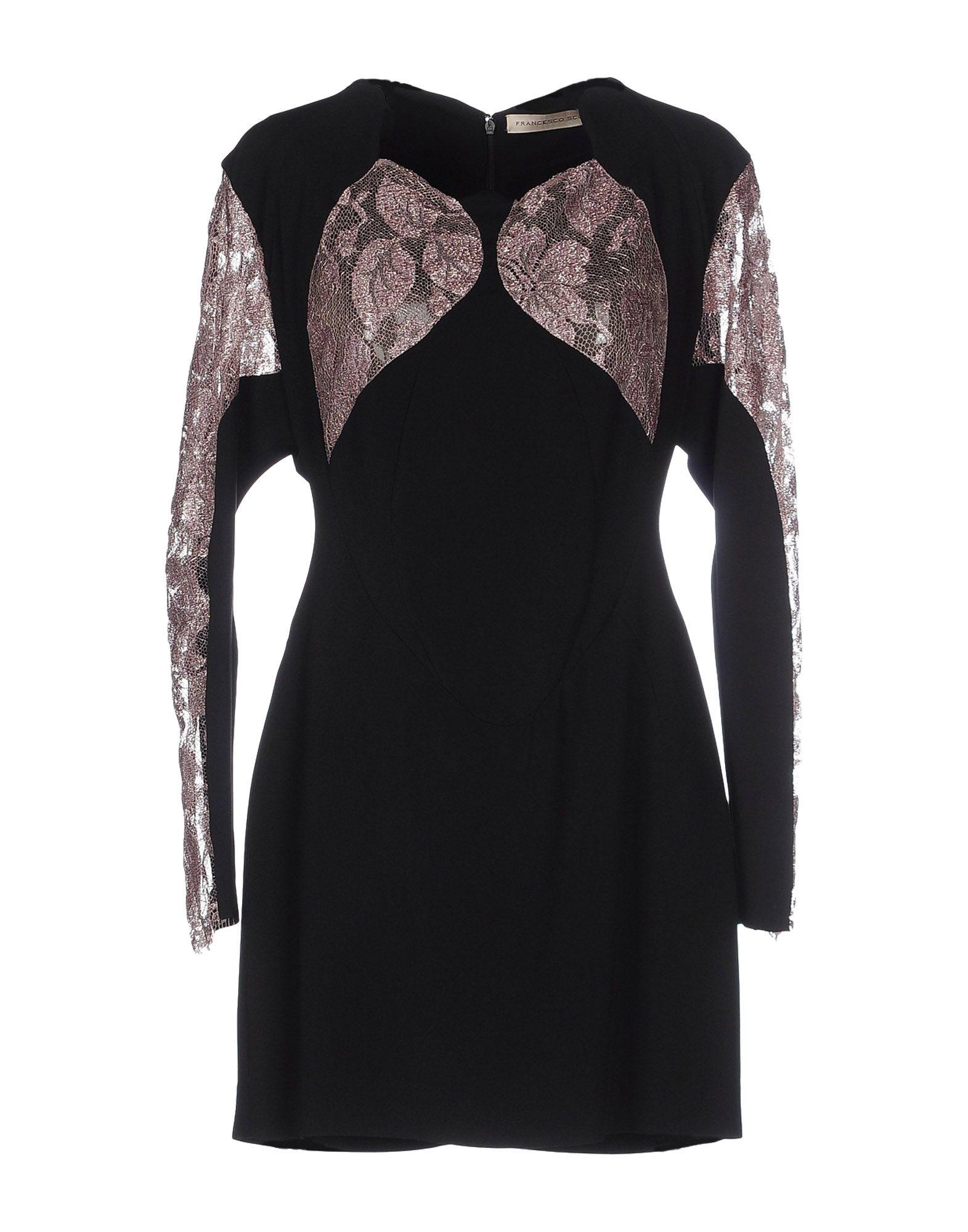 Francesco Scognamiglio Short Dress In Black Lyst