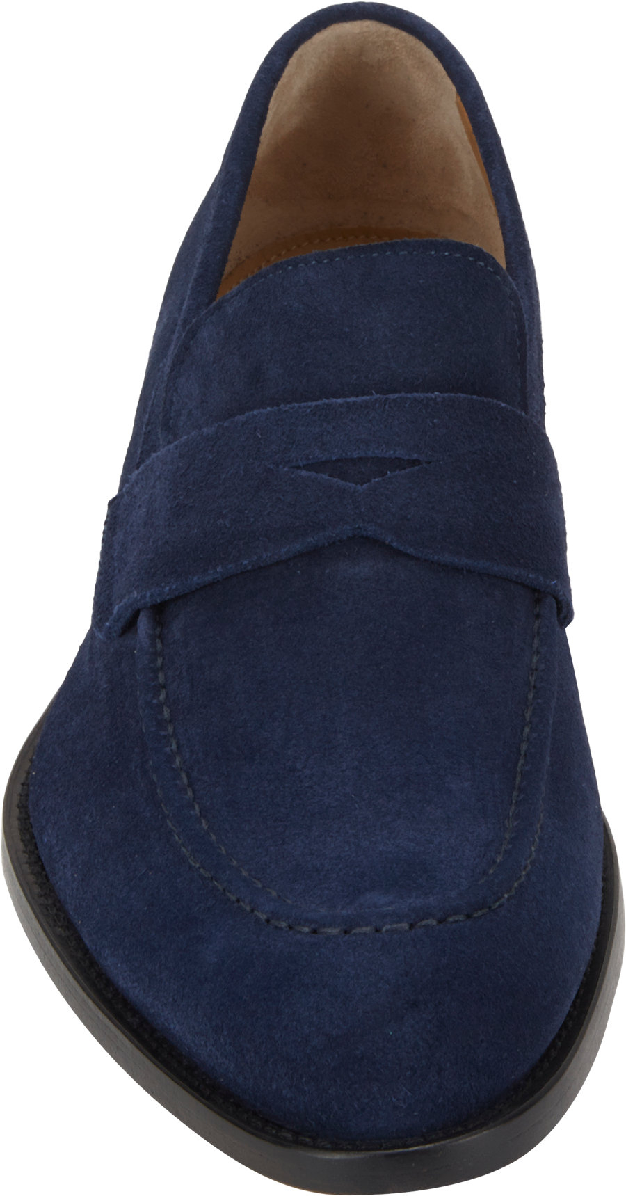 Barneys New York Suede Aprontoe Penny Loafers in Blue for ...