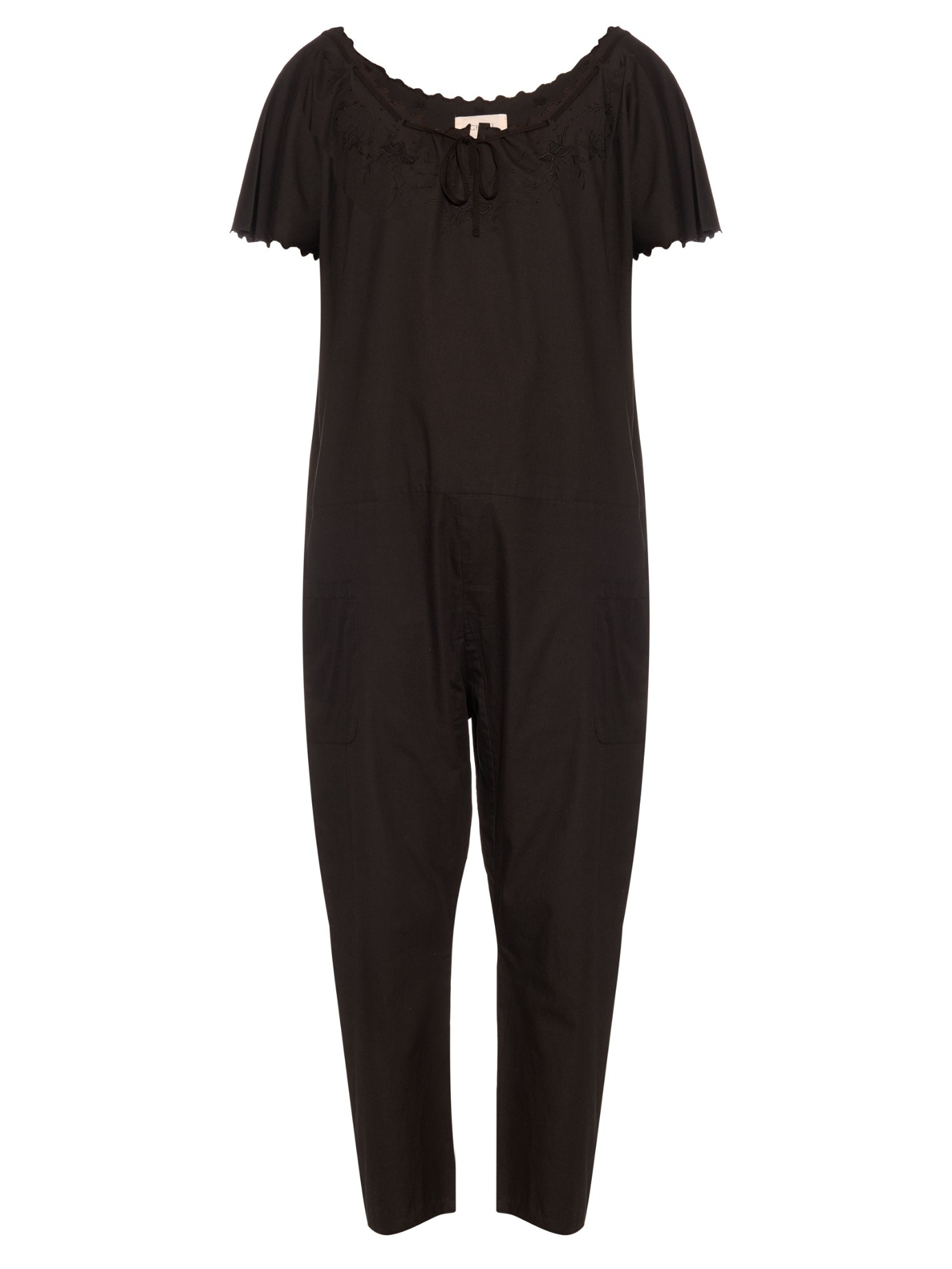 The great The Maiden Cotton Jumpsuit in Black | Lyst