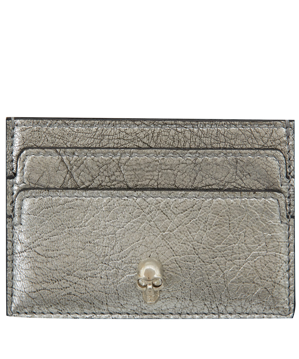 skull cardholder - Metallic Alexander McQueen Buy Cheap Looking For Manchester Cheap Price Discount Cheapest Price Reliable Cheap Latest MhwVRtW