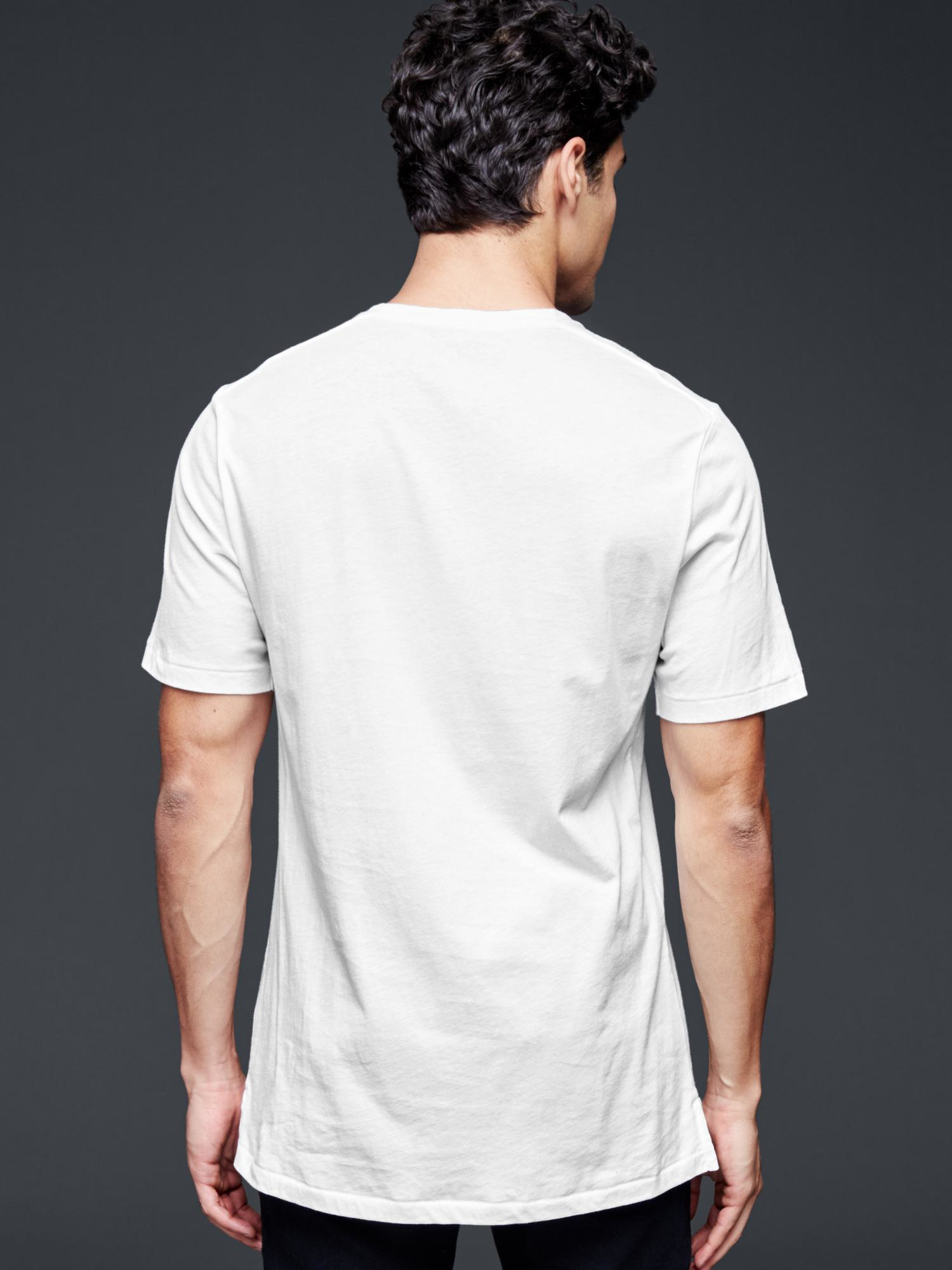 Gap Gq Stampd 99 T Shirt In White For Men Lyst