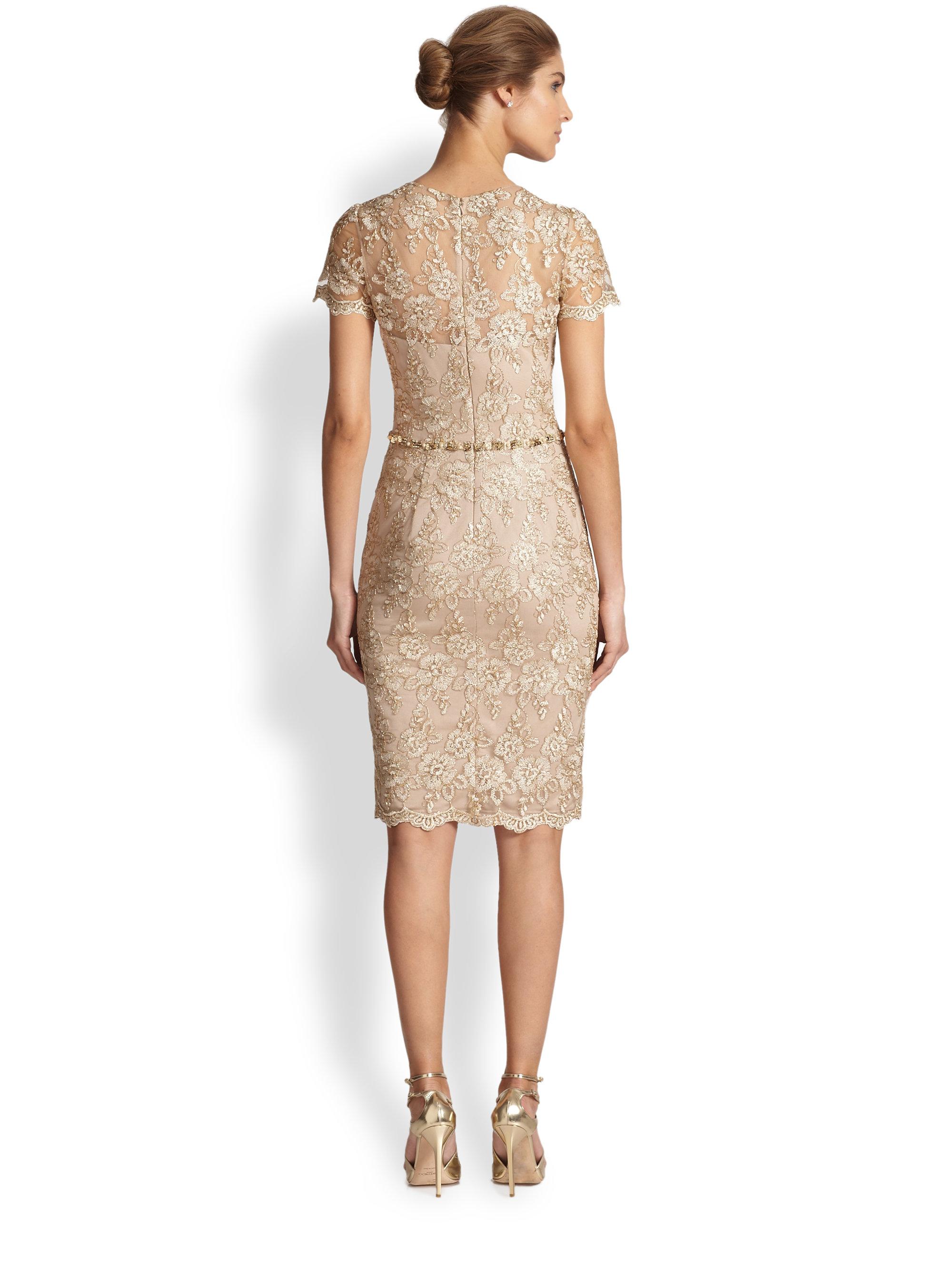 David meister short sleeve dress with lace overlay – Dress blog Edin