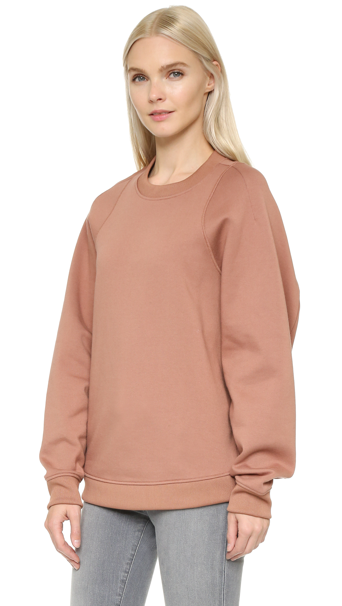 acne studios albina fleece pullover dusty pink in pink lyst. Black Bedroom Furniture Sets. Home Design Ideas
