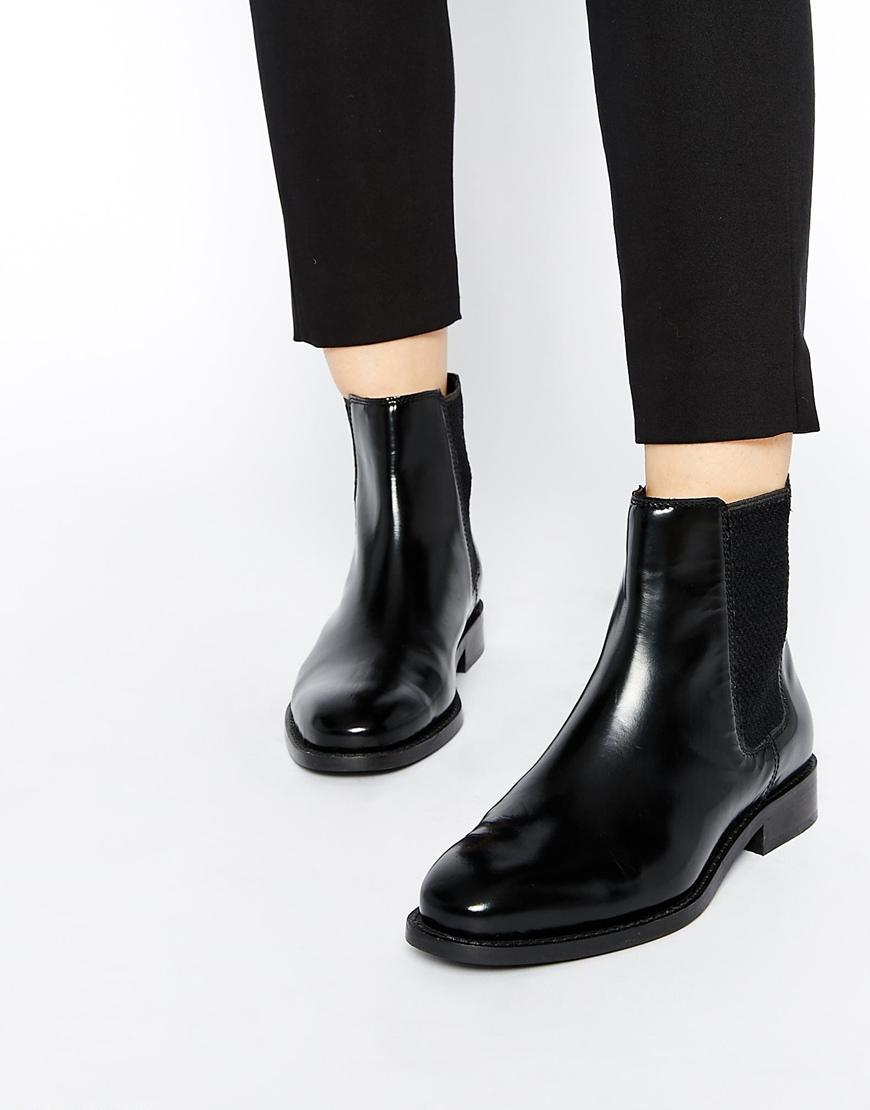461ef45bda2 ASOS Black Abingdon Leather Chelsea Ankle Boots