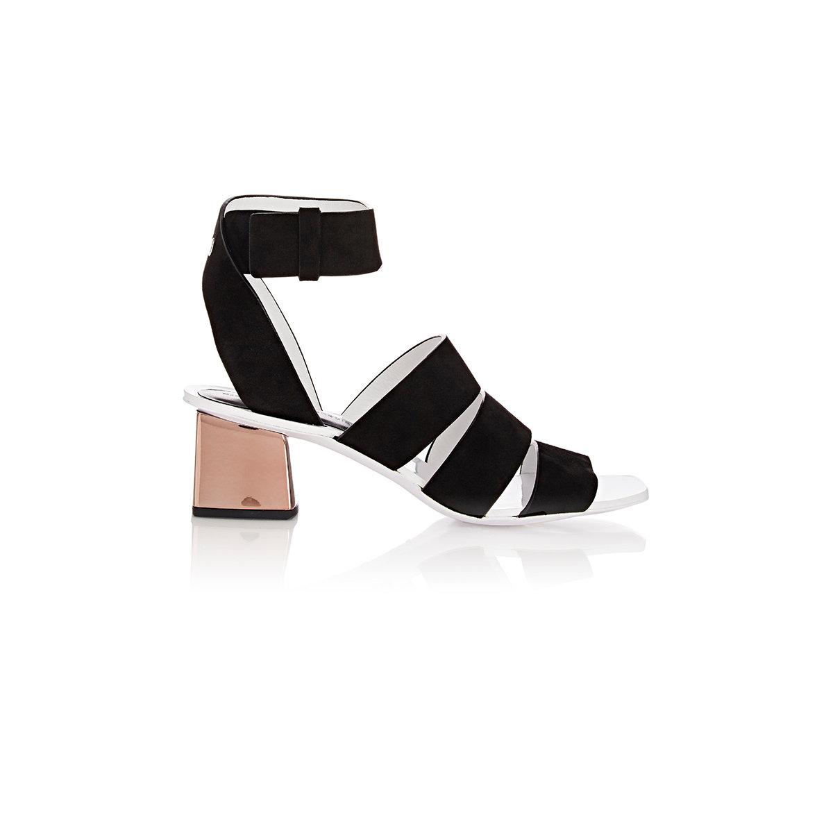 4e9650c58e9dfb Proenza Schouler Women s Metal-heel Multi-strap Sandals in Black - Lyst