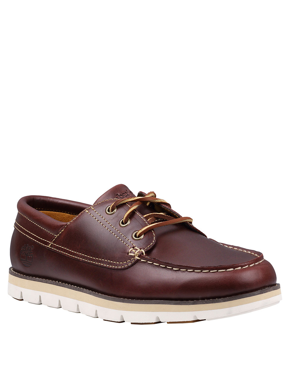 Timberland Earthkeepers Harborside 3eye Leather Oxford in Red for Men (burgundy)   Lyst