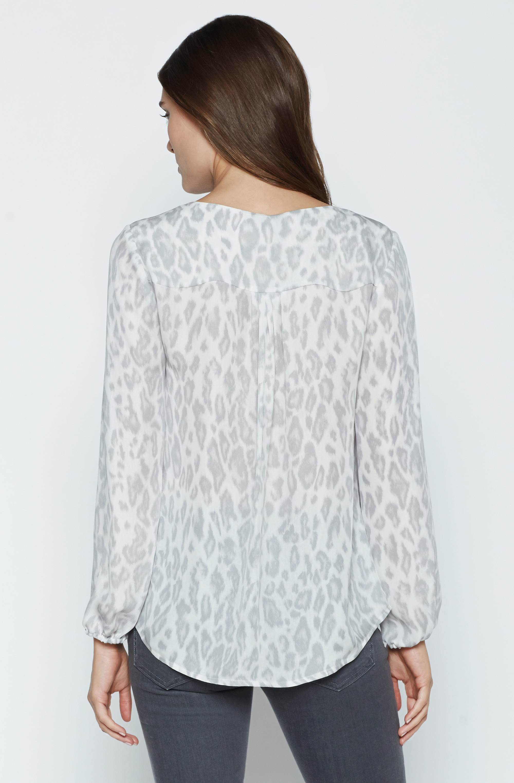 Joie Odelette B Silk Blouse in White