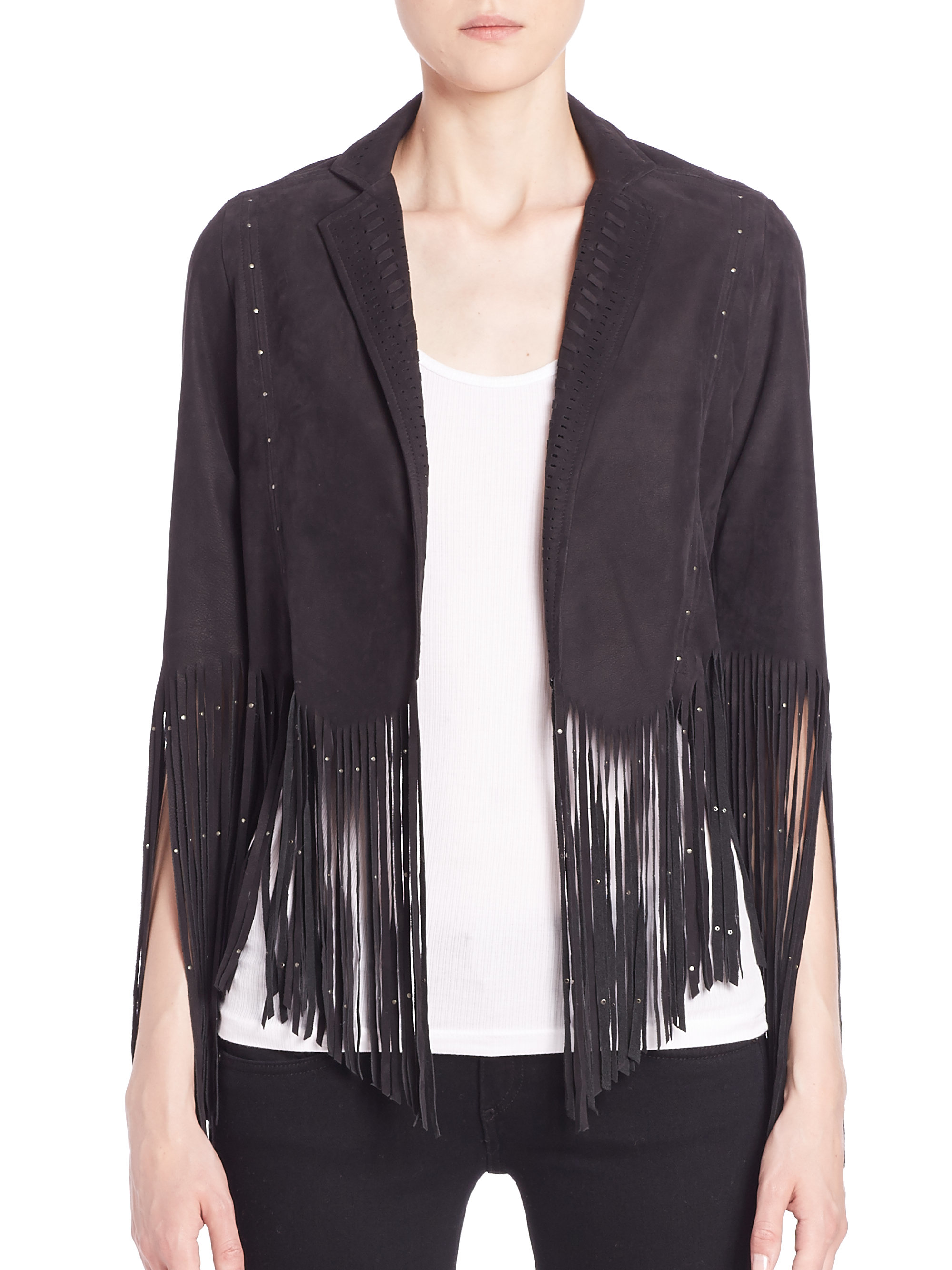 Rebecca Minkoff Fringe Trim Jacket Sale Real Shopping Online Free Shipping Cheap Popular Exclusive For Sale Buy Cheap Free Shipping x8d2iiH