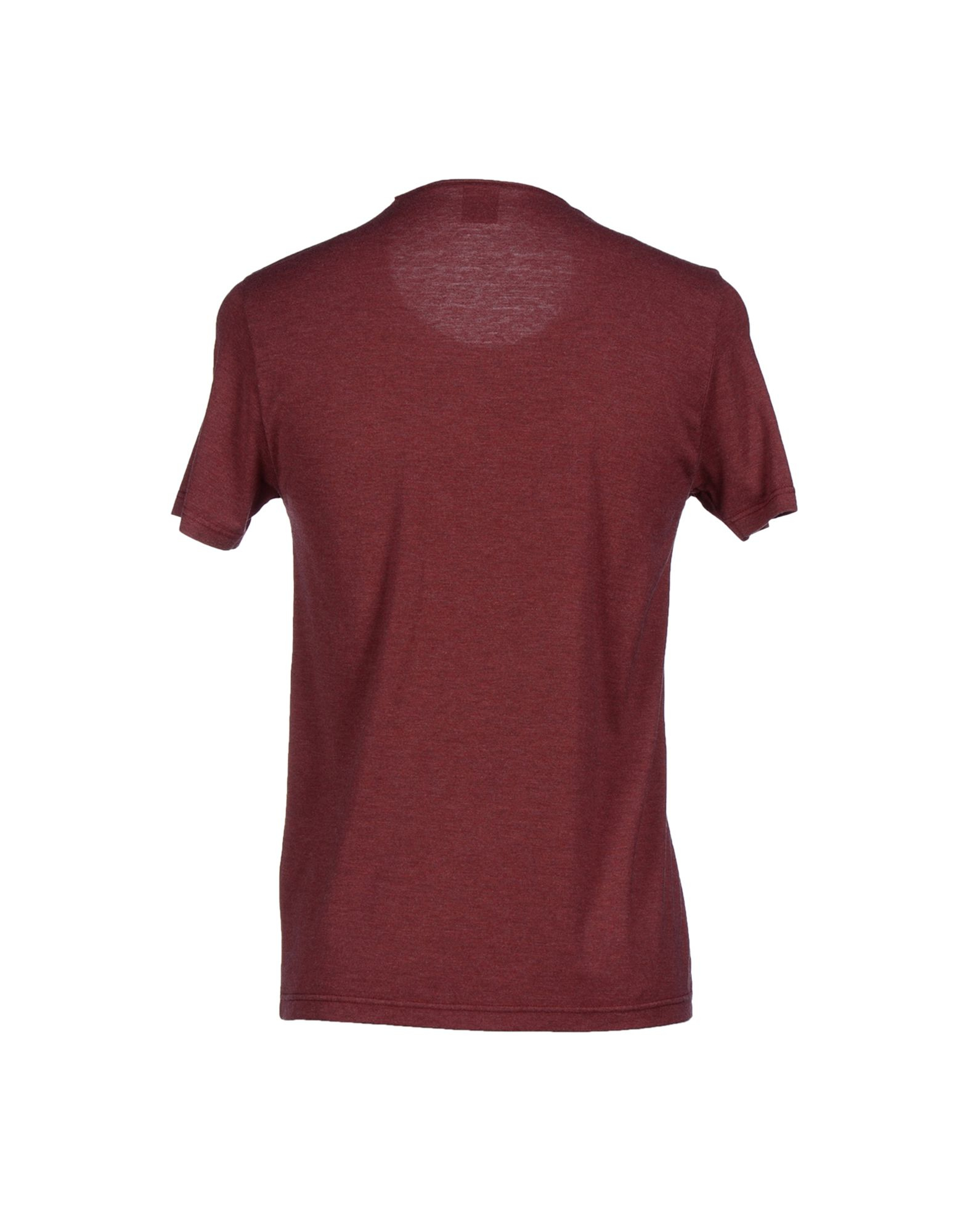 Jijil t shirt in brown for men maroon lyst for Maroon t shirt for men