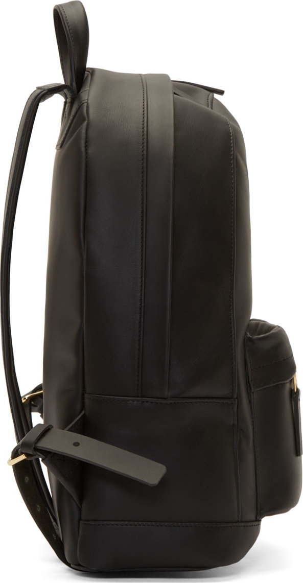 9af817a3bc7 Lyst - PB 0110 Black Matte Leather Small Backpack in Black