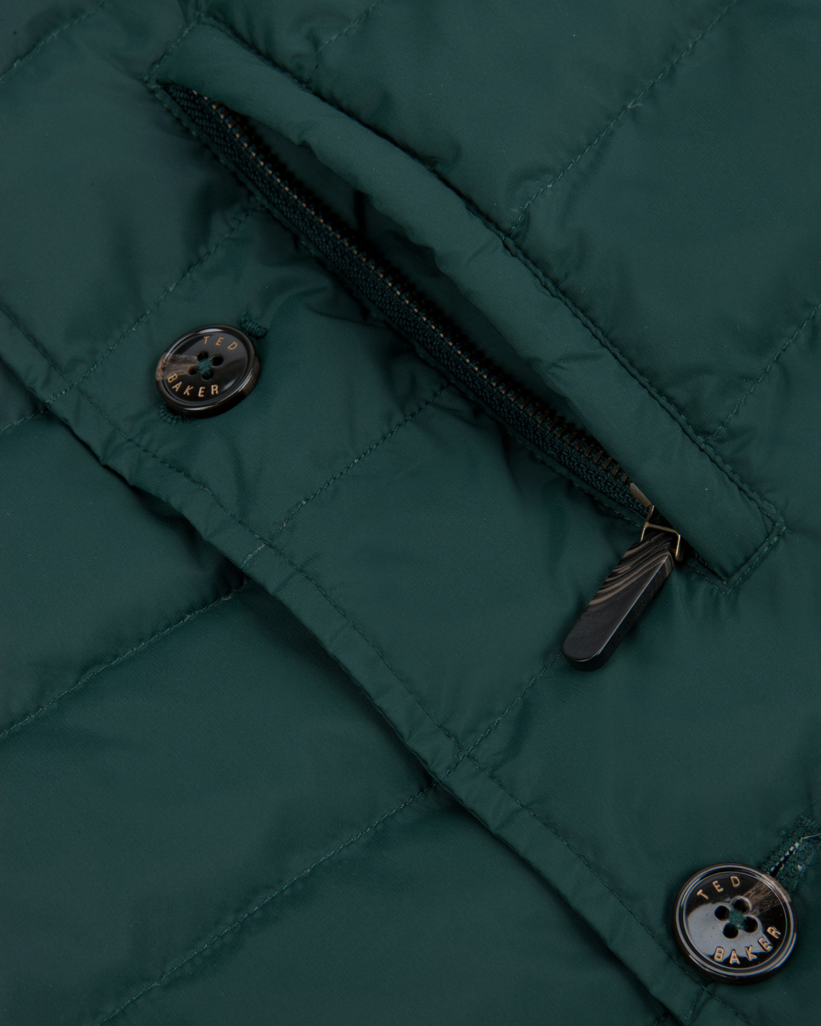 Ted Baker Quilted Jacket in Dark Green (Green) for Men