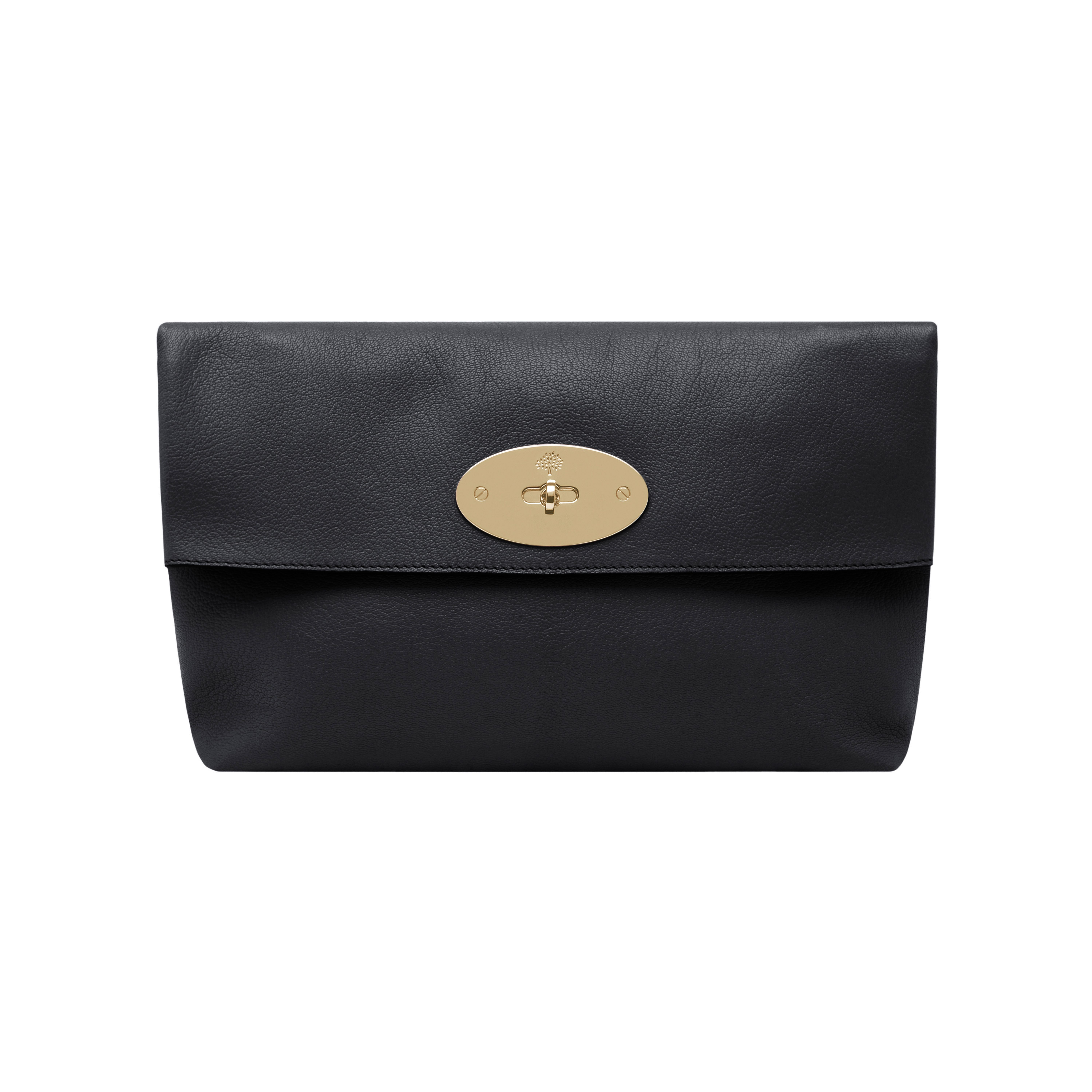 5e4294d253bd Lyst - Mulberry Clemmie Clutch Glossy Goat in Black