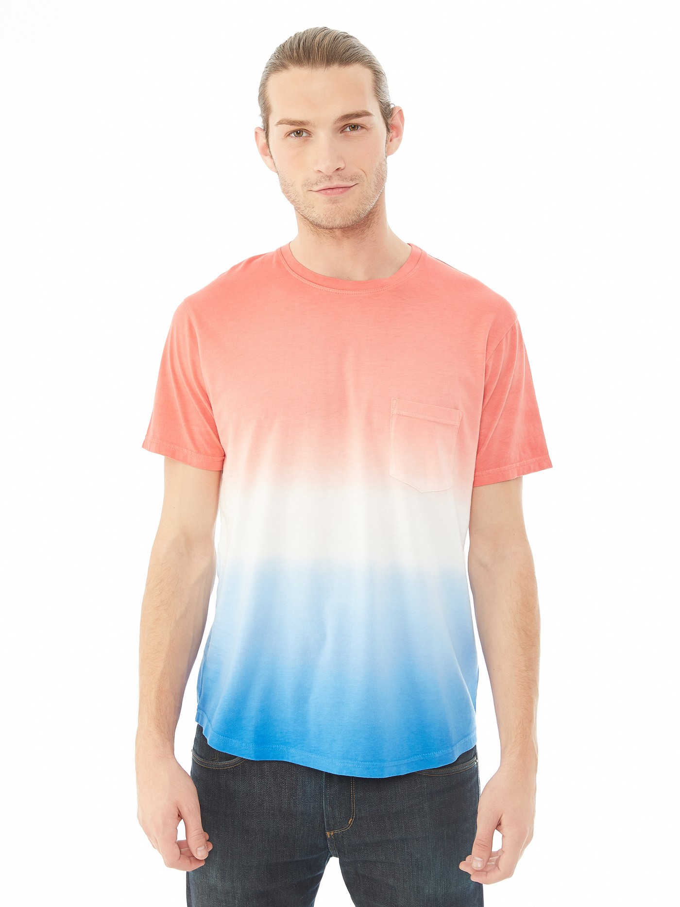 Lyst alternative apparel cotton modal pocket crew t for Modal t shirts mens