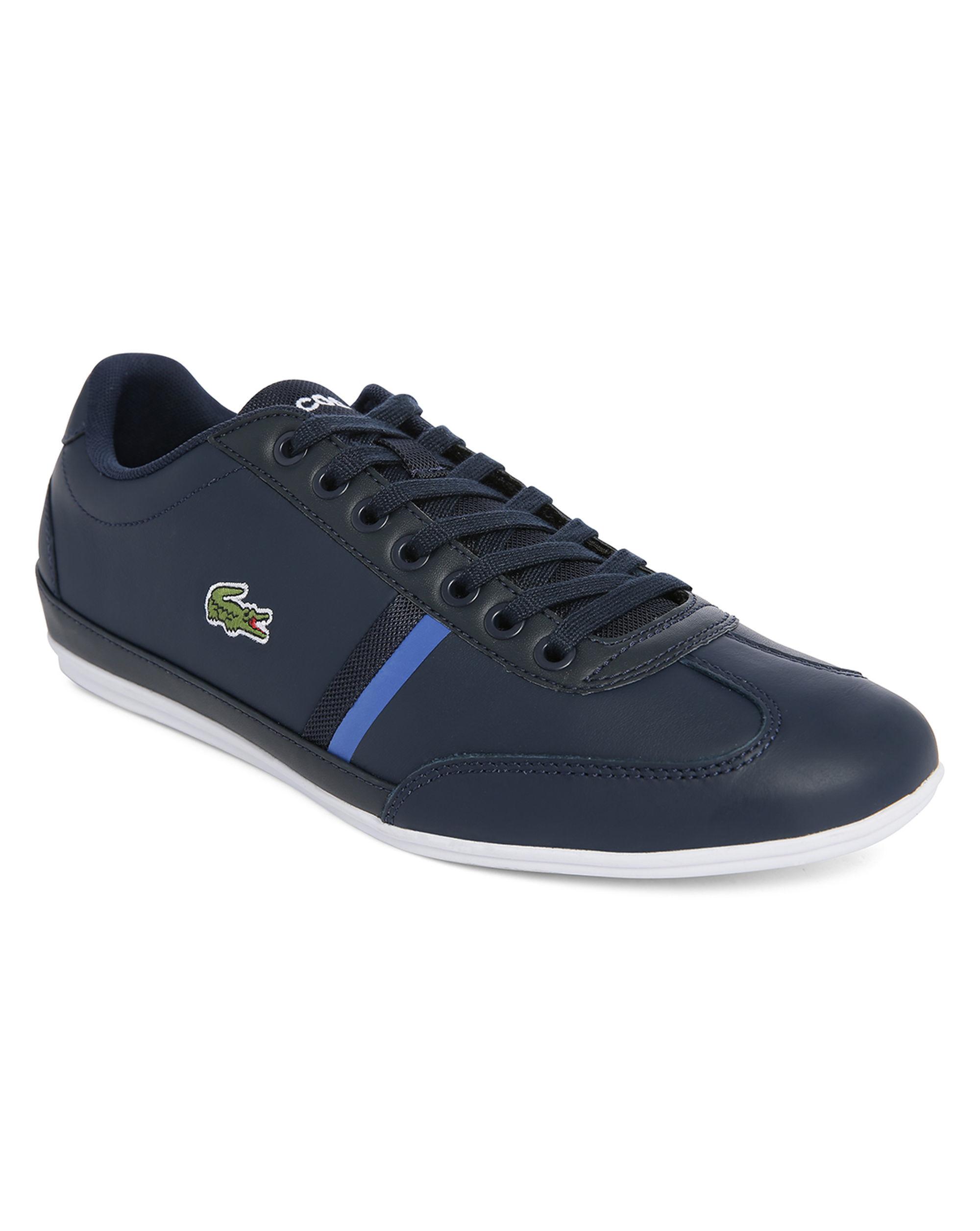 lacoste misano sport navy sneakers in blue for men lyst