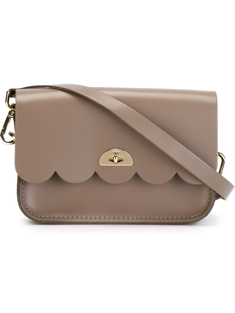 c41a10e07 Cambridge Satchel Company The Cloud Scalloped Leather Cross-Body Bag ...