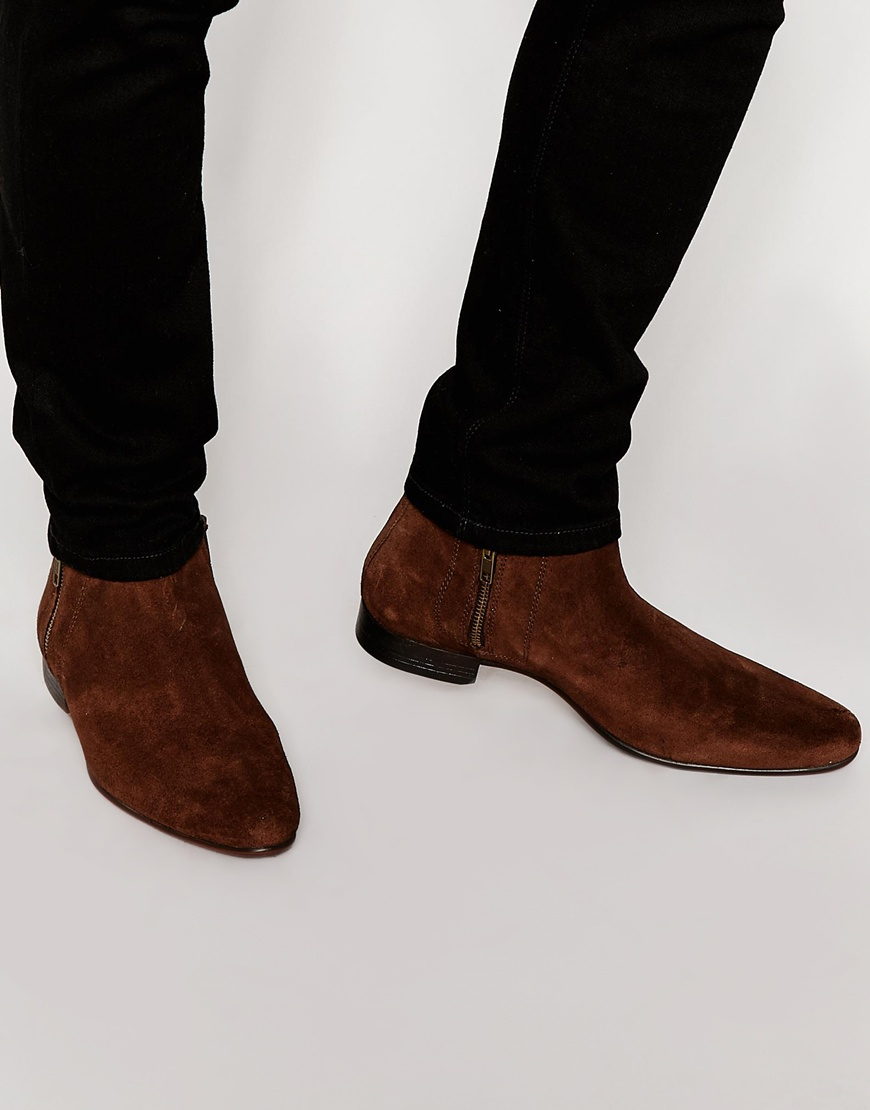 ASOS DESIGN chelsea boots in faux leather with zips qozvVHWd6