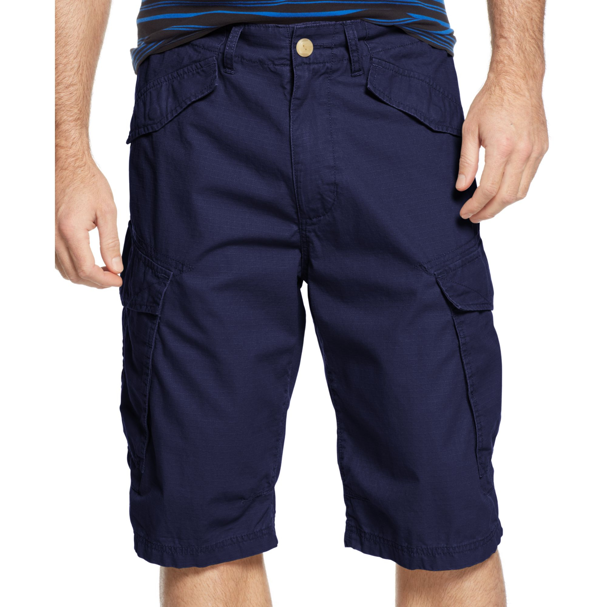 Sean john Ripstop Side Pocket Cargo Shorts in Blue for Men | Lyst