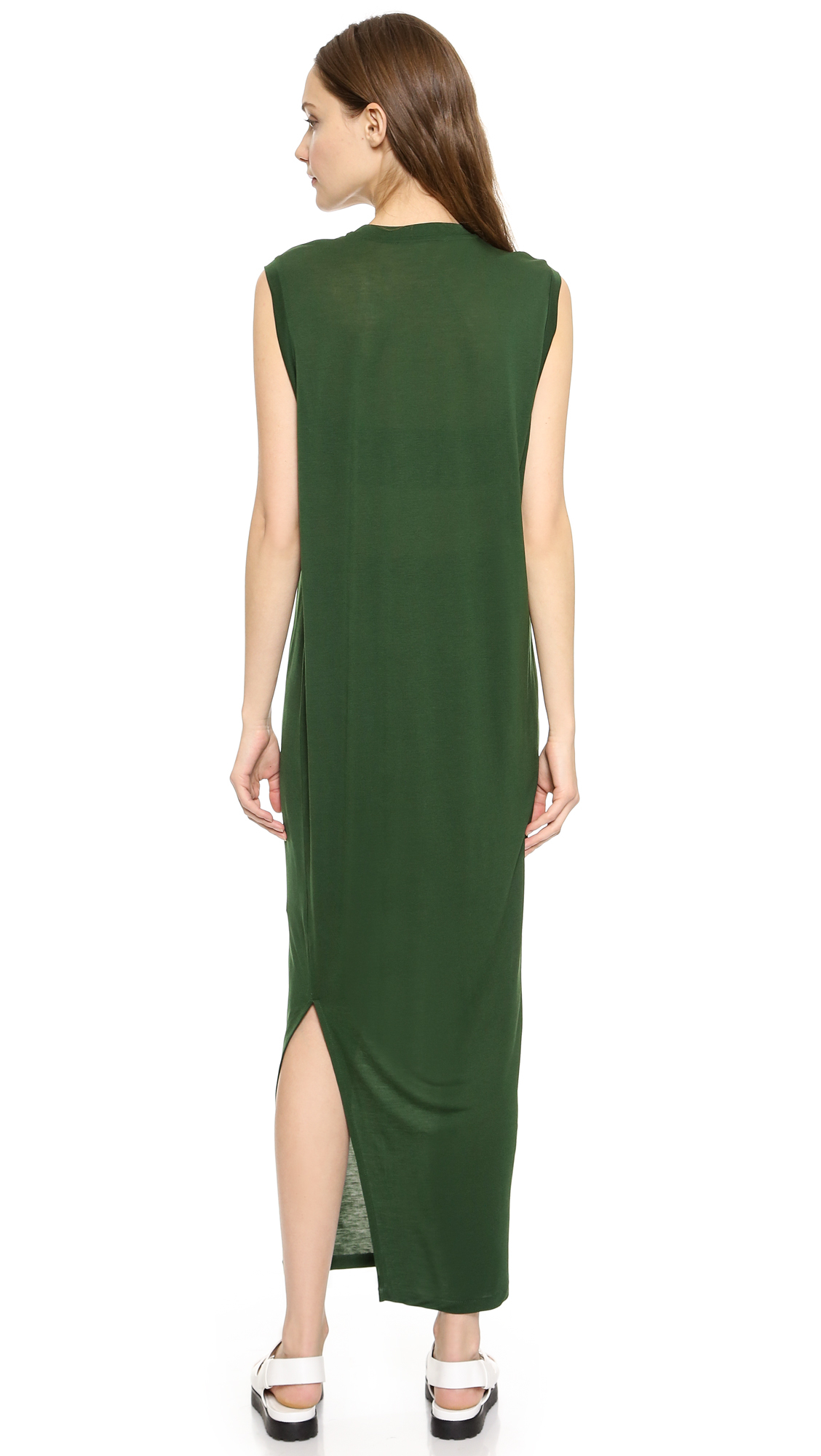 Lyst Acne Studios Bree Tencel Maxi Dress Black In Green