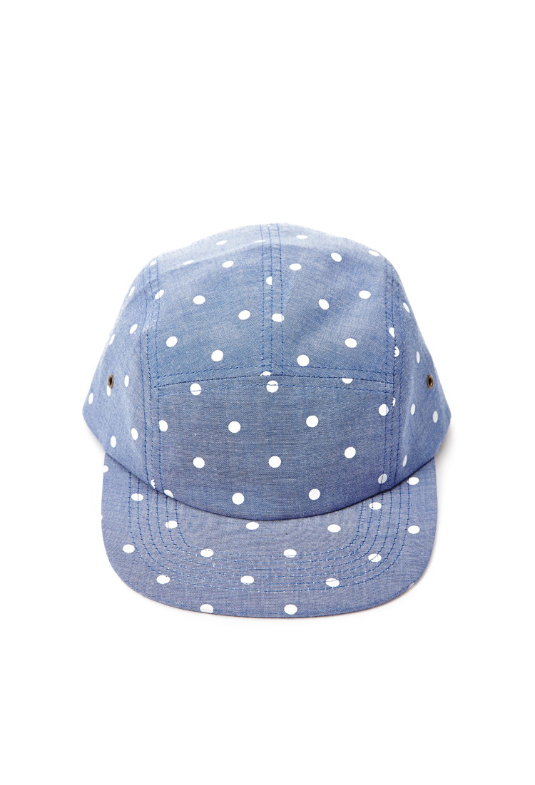 8961b8bc257 Lyst - Forever 21 Mens Polka Dot Five-panel Hat in Blue