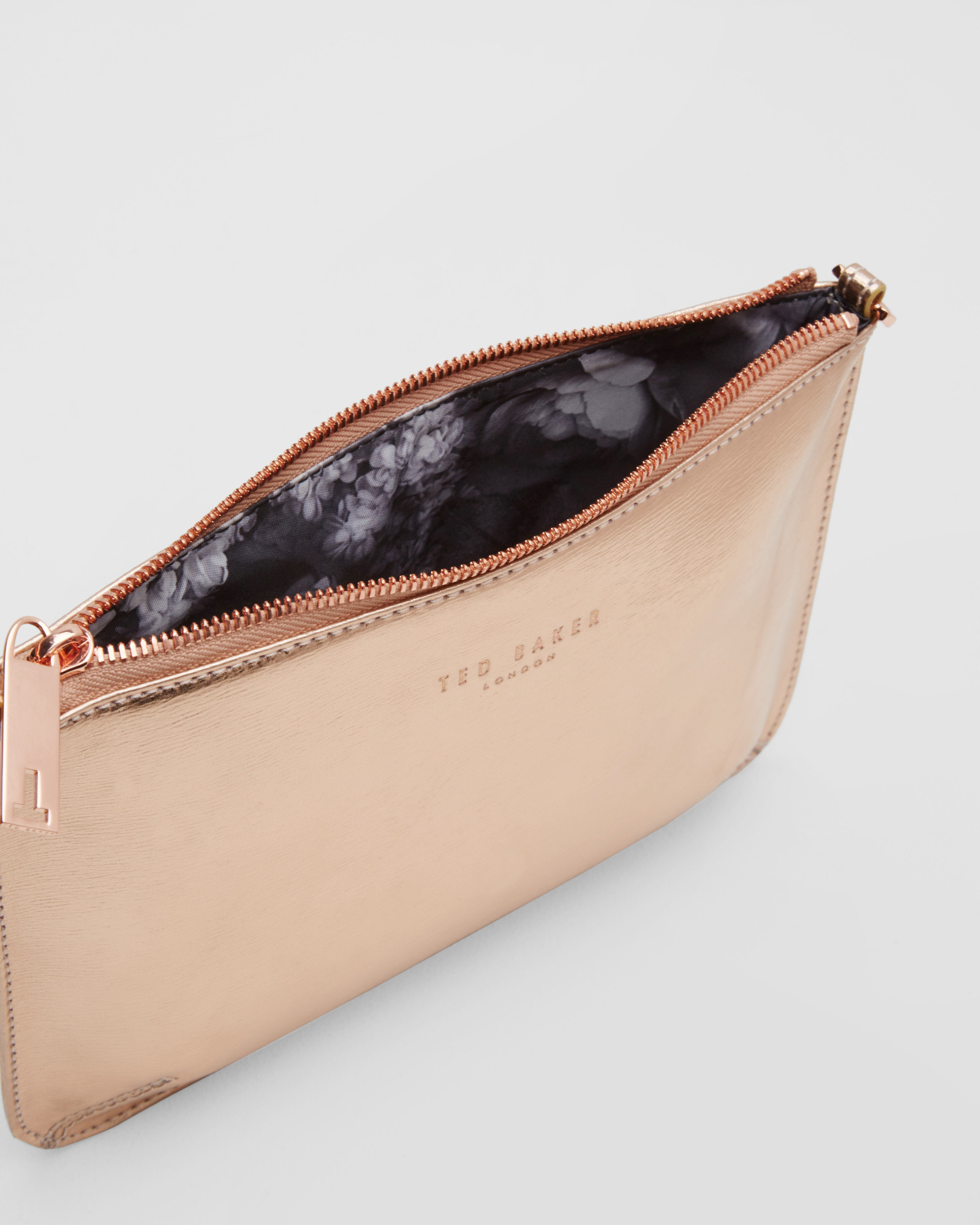ad6290ad9cce Ted Baker Crosshatch Leather Clutch Bag in Pink - Lyst