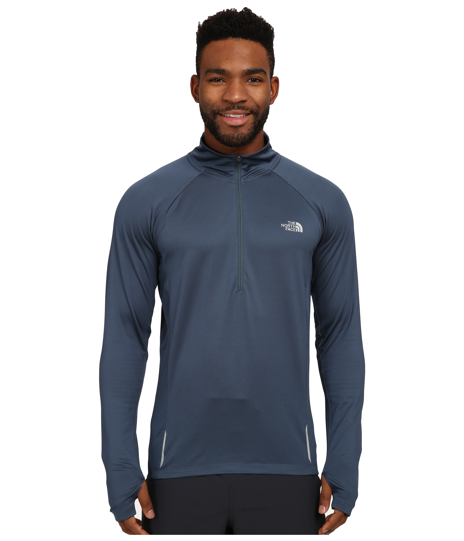 lyst the north face isolite 1 2 zip pullover in blue for men. Black Bedroom Furniture Sets. Home Design Ideas